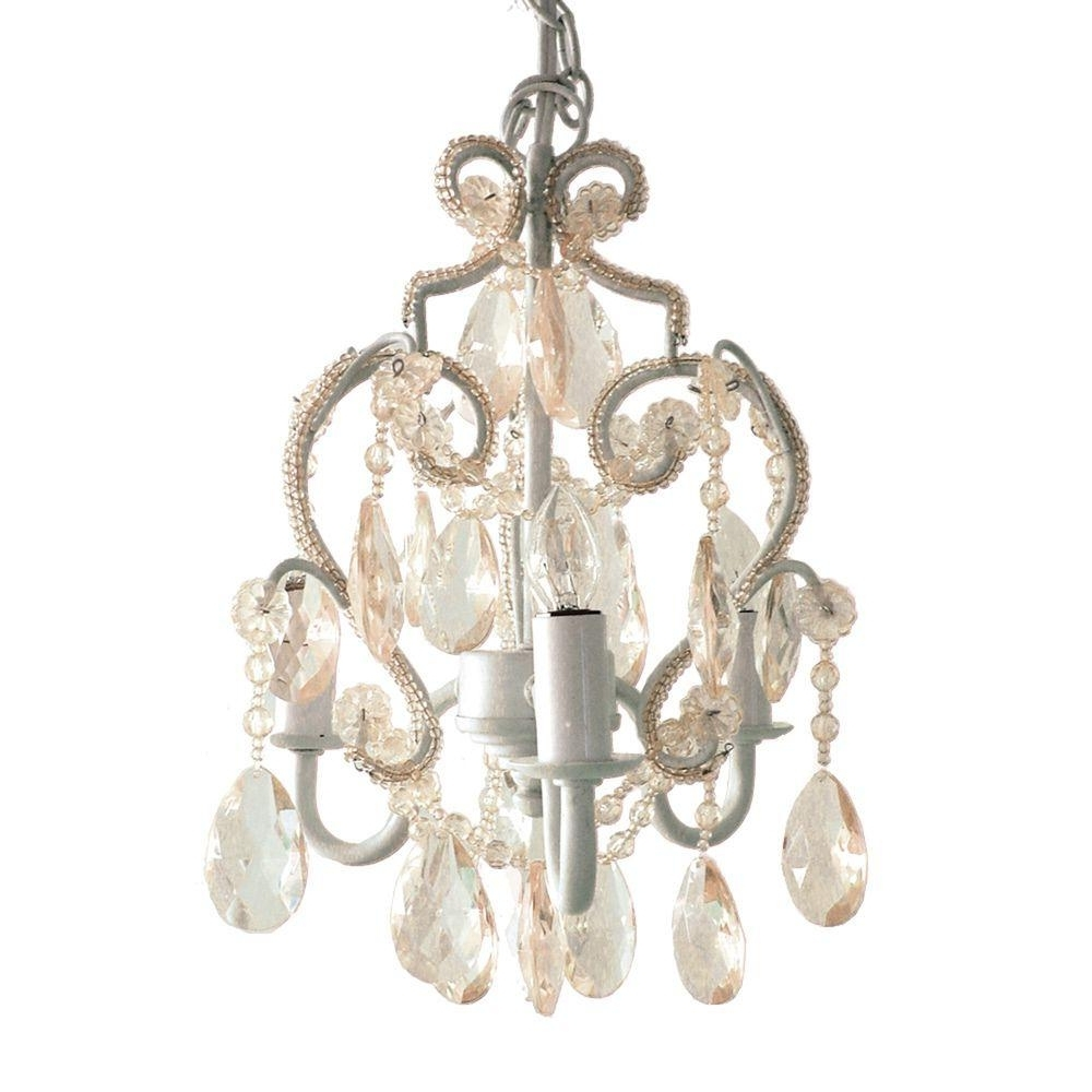 Small White Chandeliers For Best And Newest White – Chandeliers – Lighting – The Home Depot (View 16 of 20)
