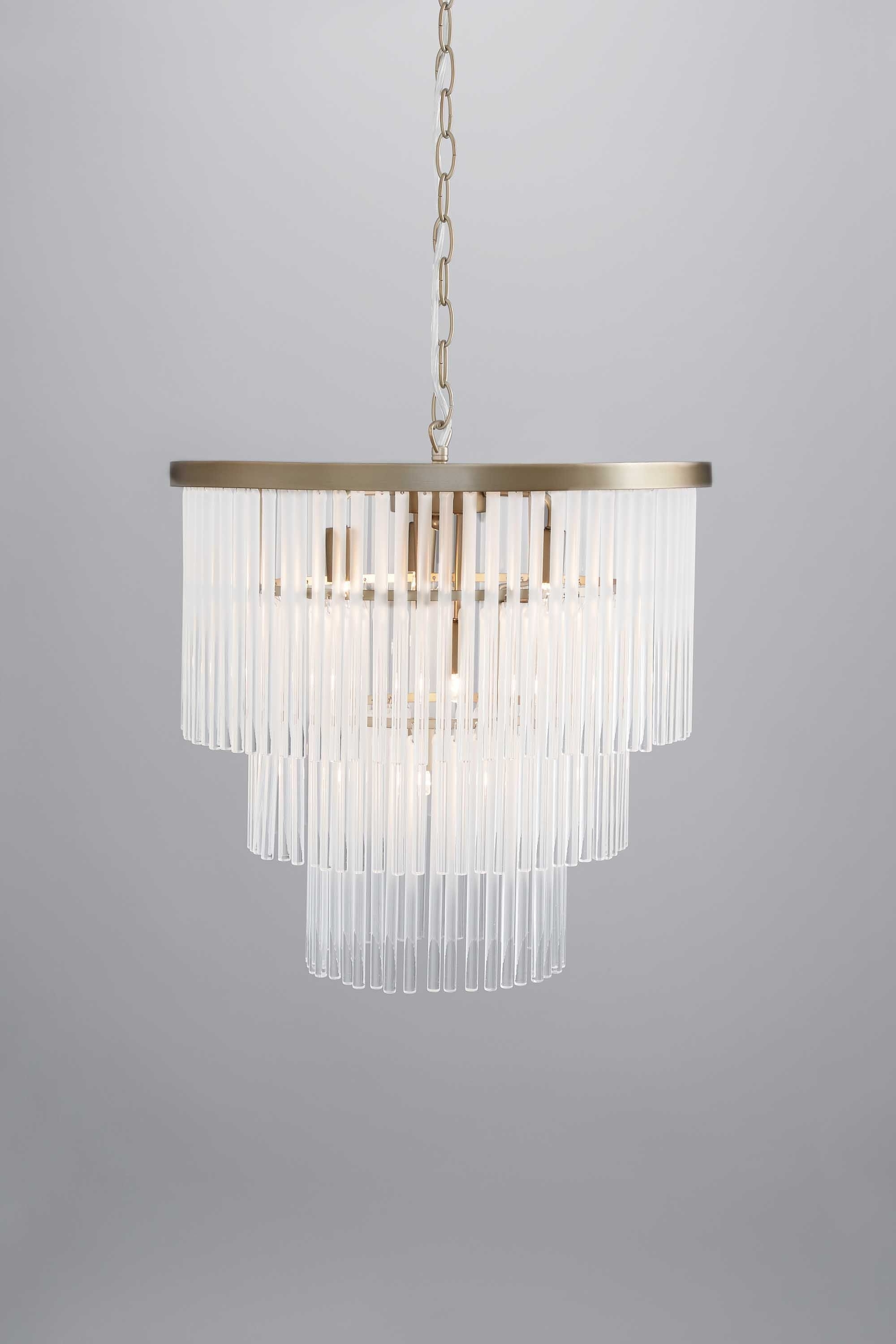 Smoked Glass Chandelier Pertaining To Widely Used Aubrey Frosted Glass 5 Light Pendant (View 14 of 20)