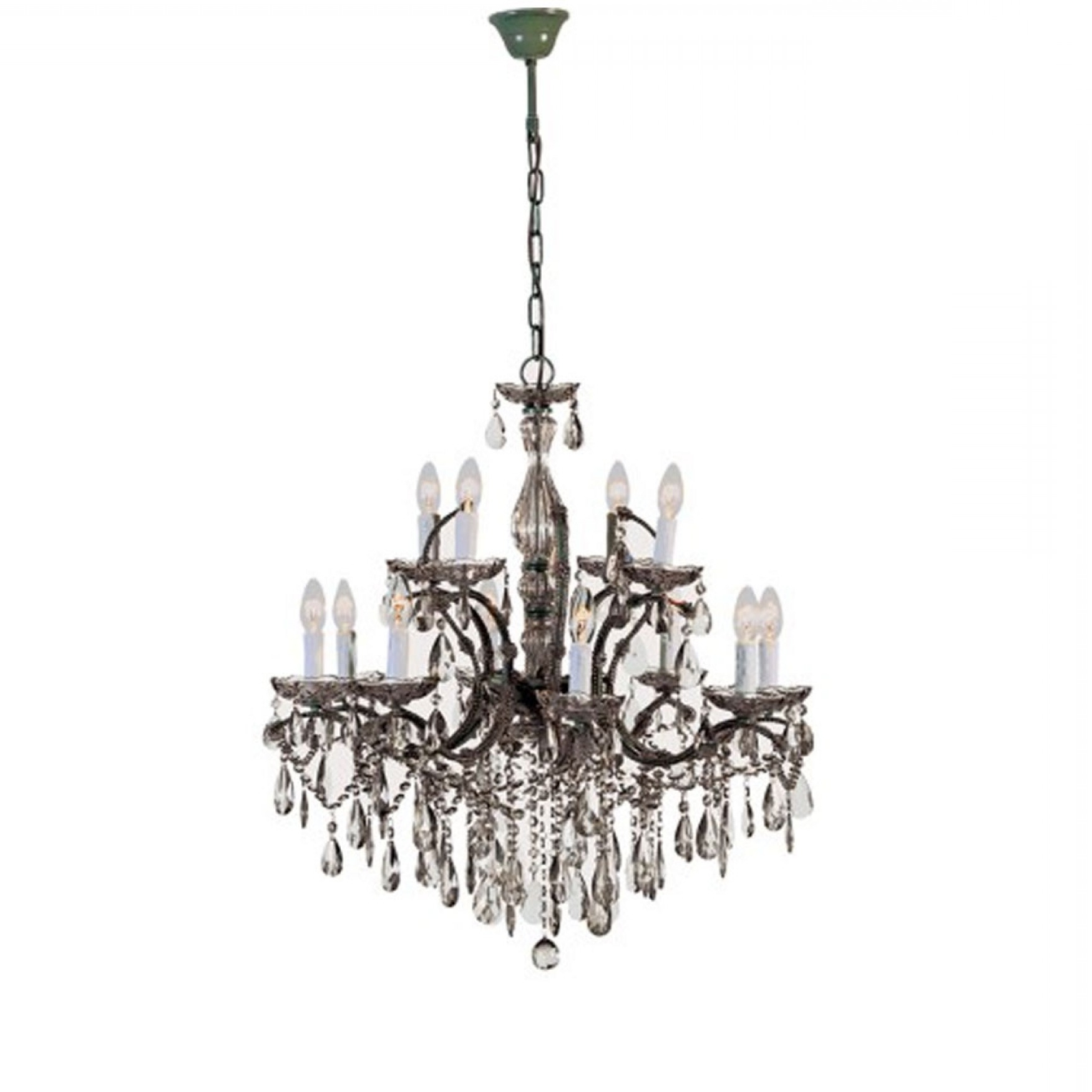 Smoked Glass Chandelier Throughout Favorite 2 Tier Smoked Glass Chandelier (View 15 of 20)