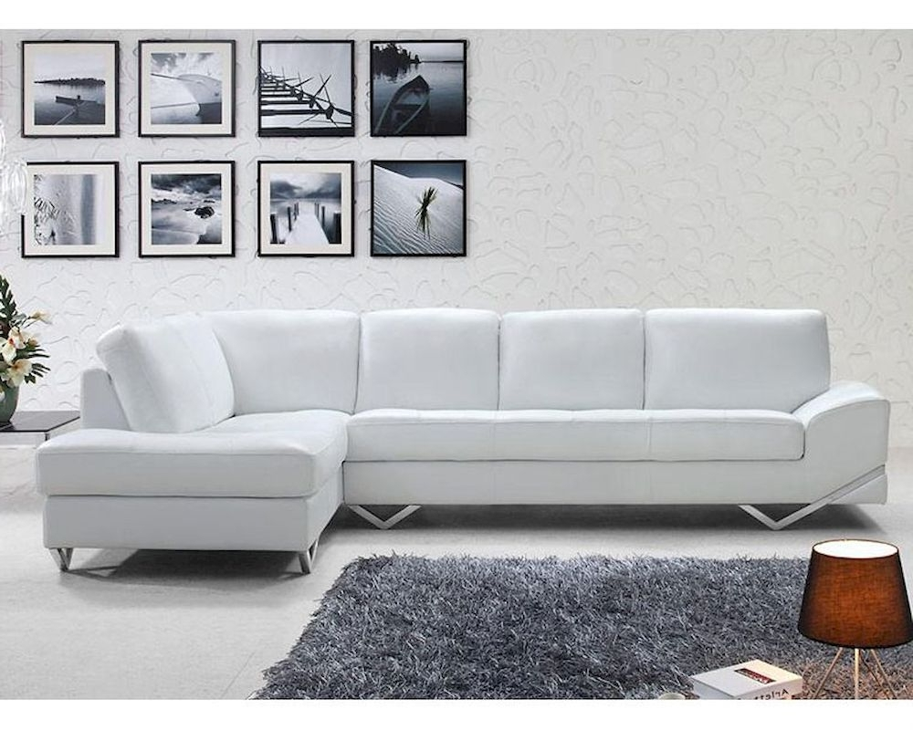Sofa : Amazing Modern White Sofa Set Sectional 44L6064 27 Modern Throughout Fashionable White Modern Sofas (View 14 of 20)