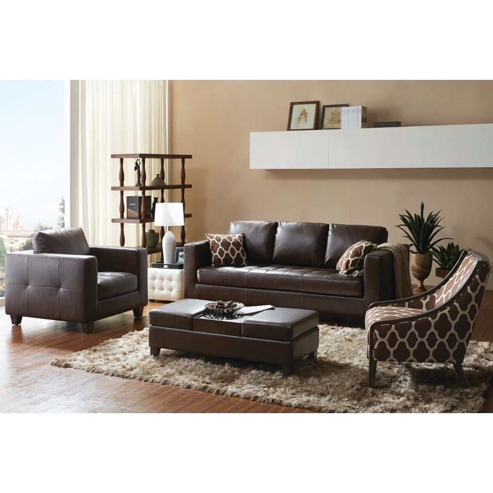 Chocolate Brown Accent Chair And Ottoman Accent Chairs