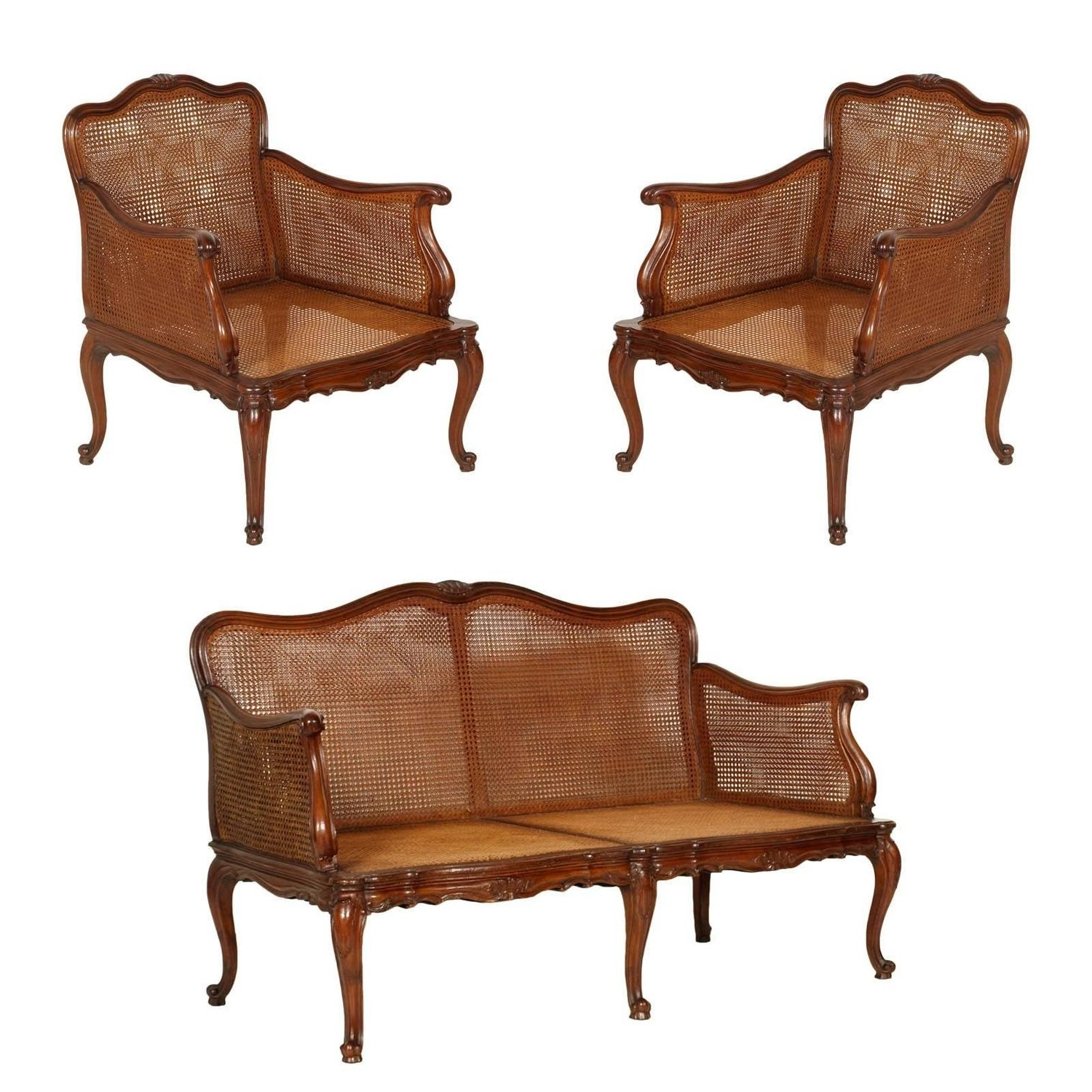 Sofa Arm Chairs Regarding 2019 19Th Century Venice Cadorin Sofa And Pair Of Armchairs Vienna (View 13 of 20)