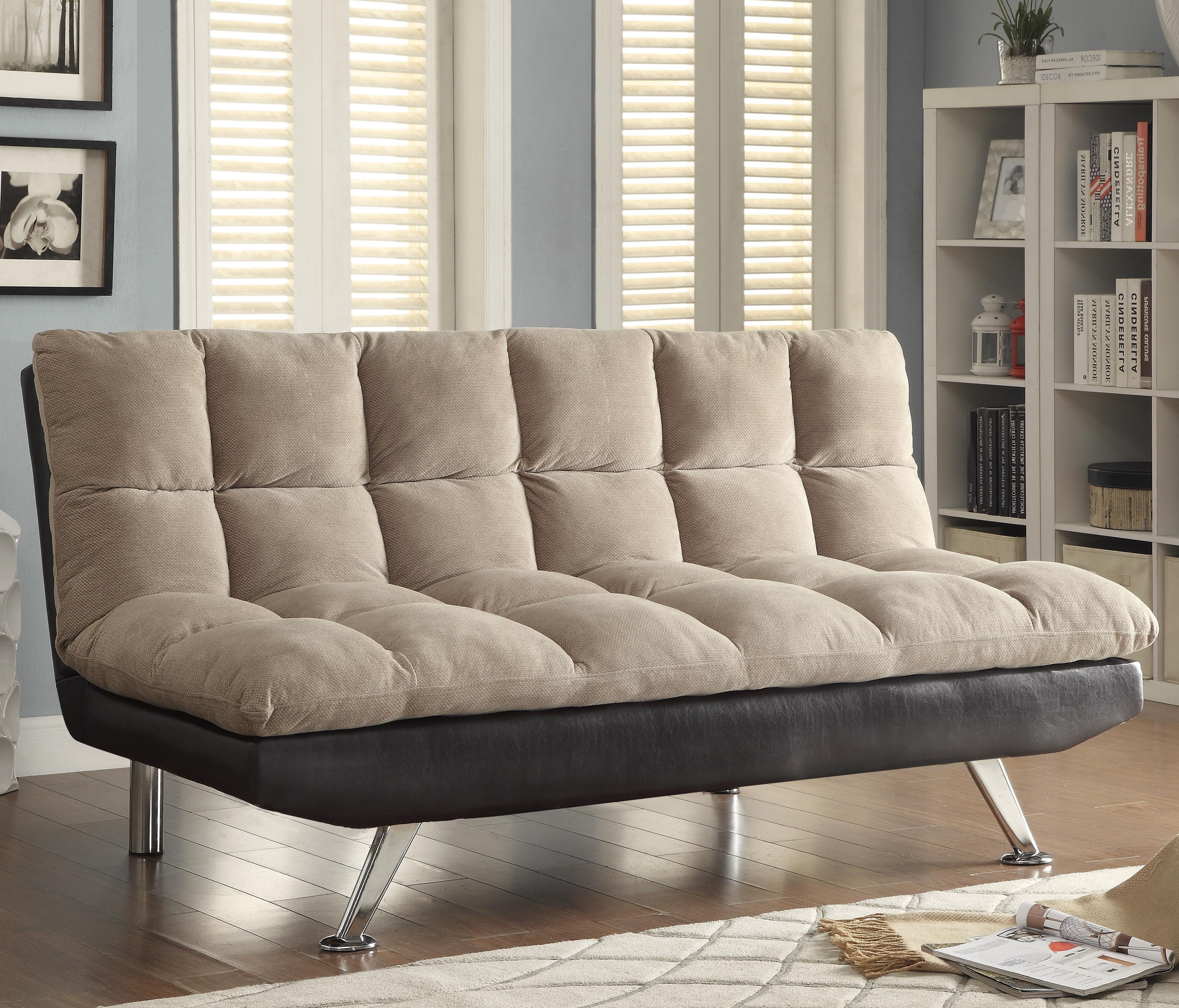 Sofa Beds And Futons – Two Tone Sofa Bed With Pillow Top Seating Throughout Current Two Tone Sofas (View 17 of 20)