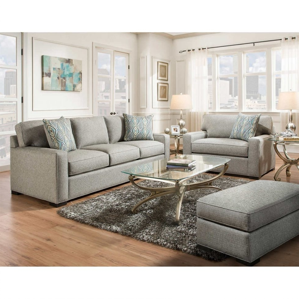 Sofa Chairs For Living Room Intended For 2018 Living Room Design : Charming Gray Leather Living Room Furniture (View 16 of 20)