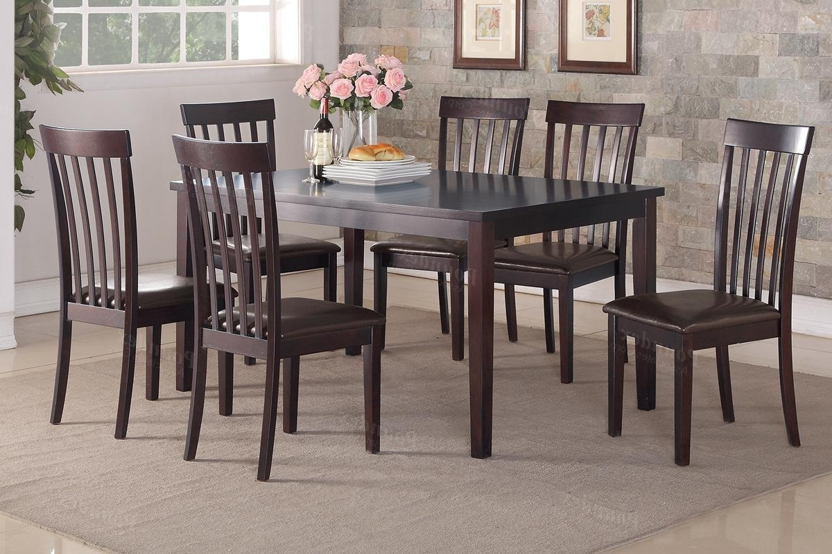 Sofa Chairs With Dining Table Inside Most Popular Brown Wood Dining Table And Chair Set – Steal A Sofa Furniture (View 13 of 20)
