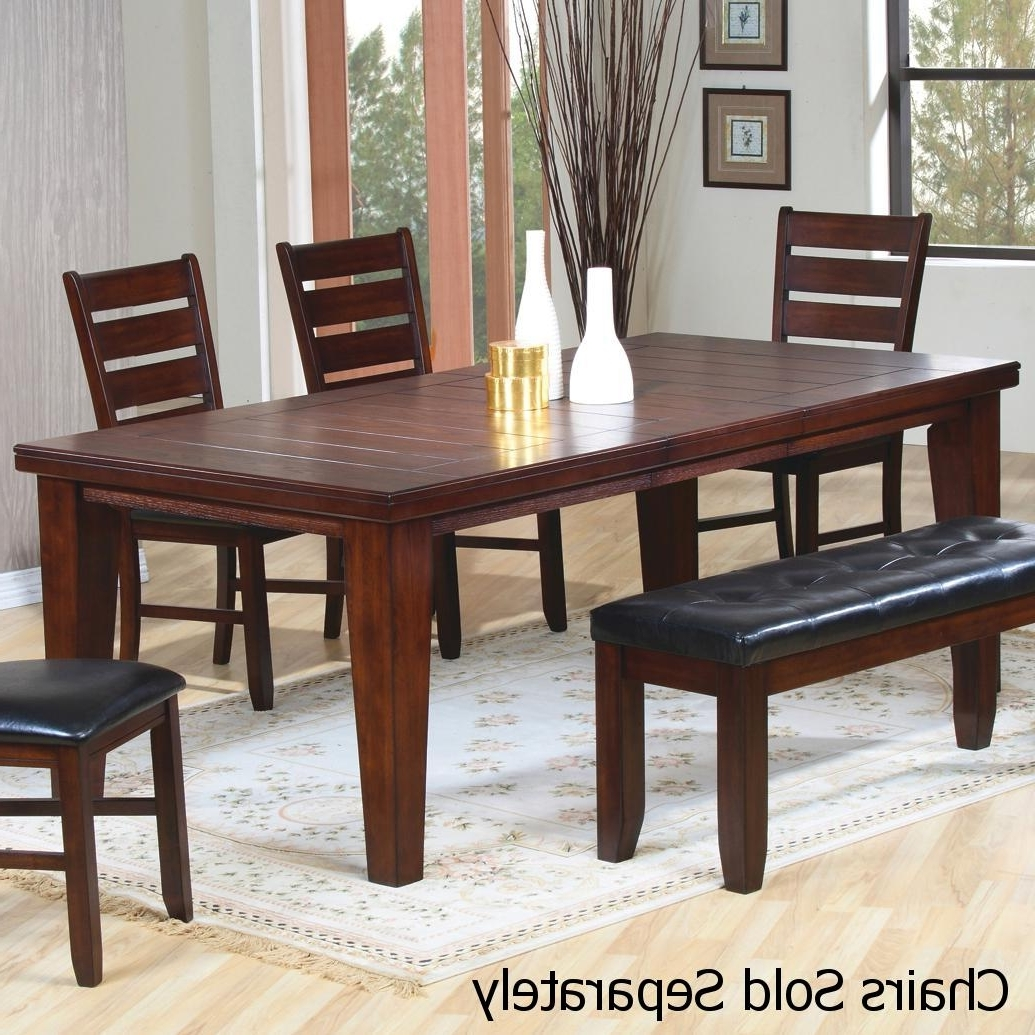 Sofa Chairs With Dining Table Inside Most Up To Date Brown Wood Dining Table – Steal A Sofa Furniture Outlet Los Angeles Ca (View 14 of 20)
