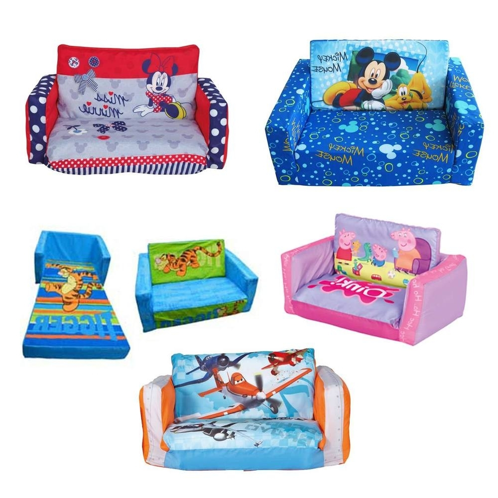 Sofa : Childrens Sofa Bed Chair Baby Couch Bed Toddler Fold Out Regarding  Latest Flip Out