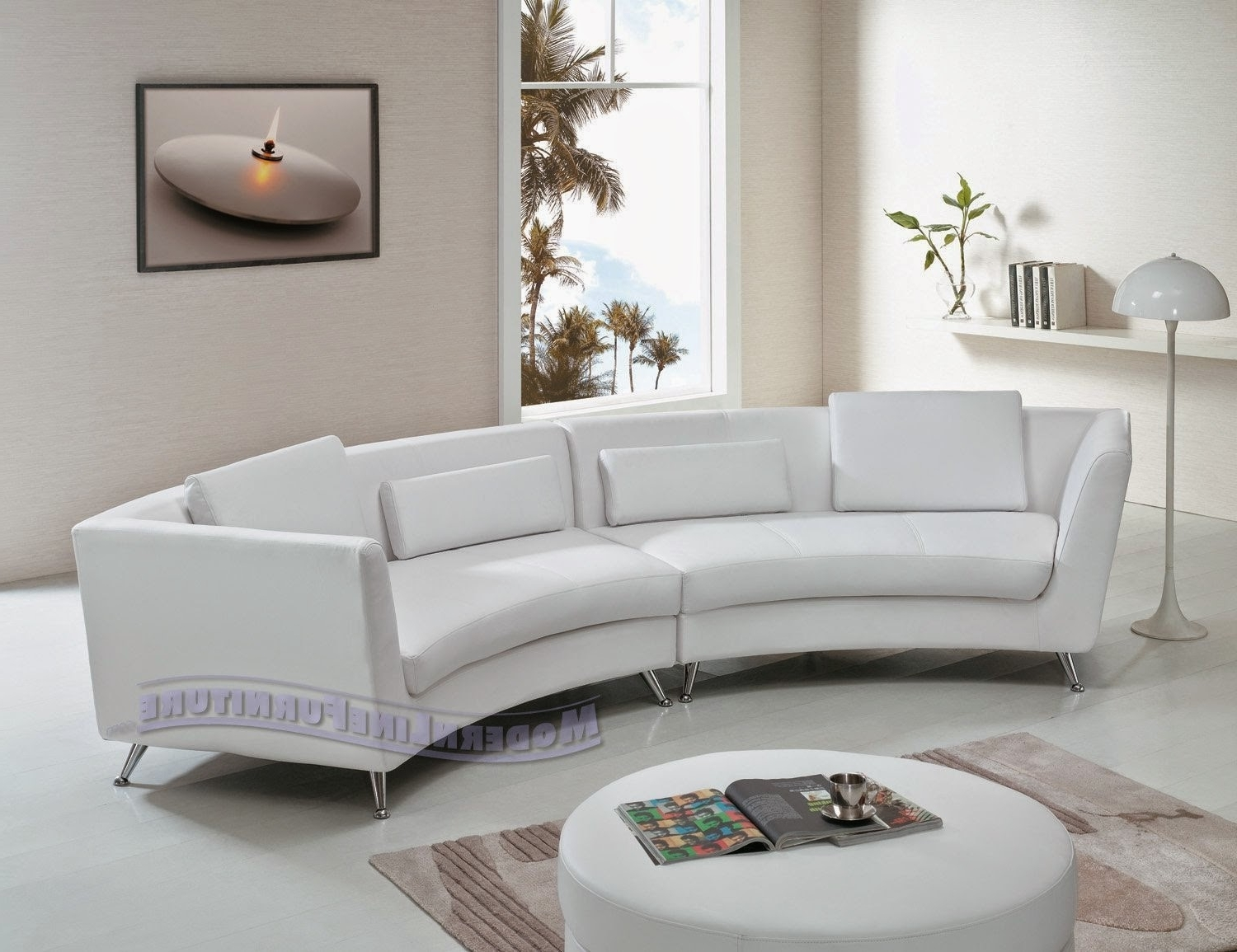 Sofa Curved: Curved Sofa For Bay Window With Preferred The Bay Sectional Sofas (View 13 of 20)