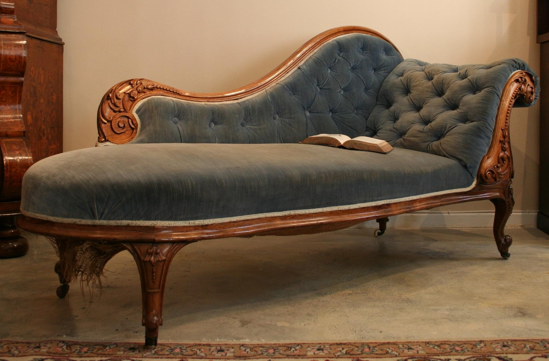 Sofa : Cute Victorian Chaise Lounge Chair Aqua 1 Sofa Victorian Inside Well Known Sofa Lounge Chairs (View 15 of 20)