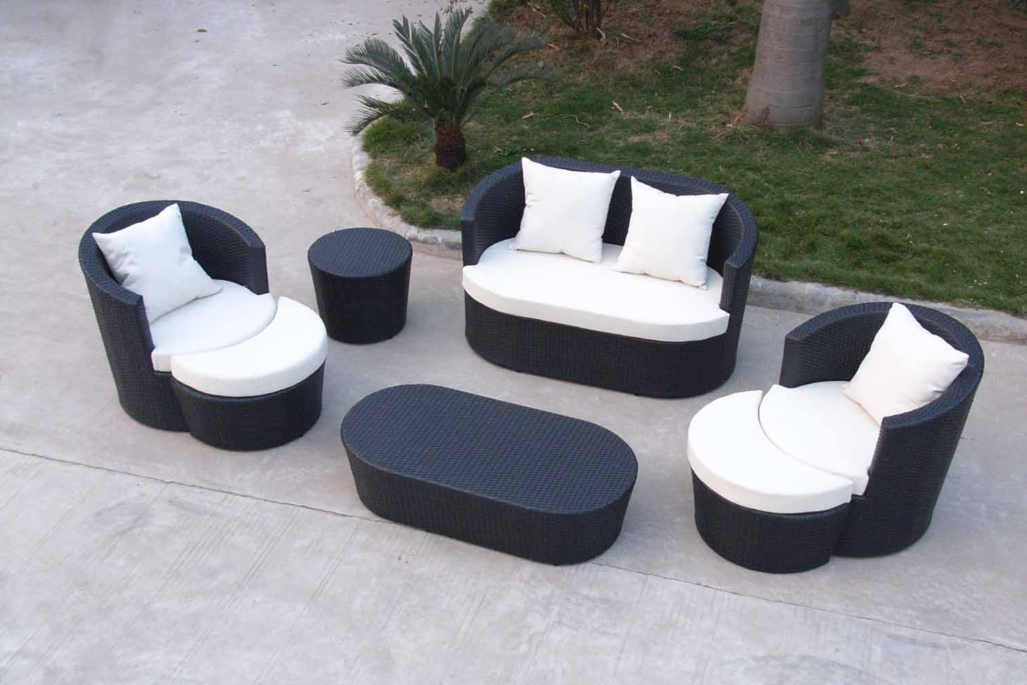 Sofa Design Ideas: Outdoor Couches Patio Furniture Sofa Chair Sets Pertaining To Fashionable Outdoor Sofa Chairs (View 10 of 20)