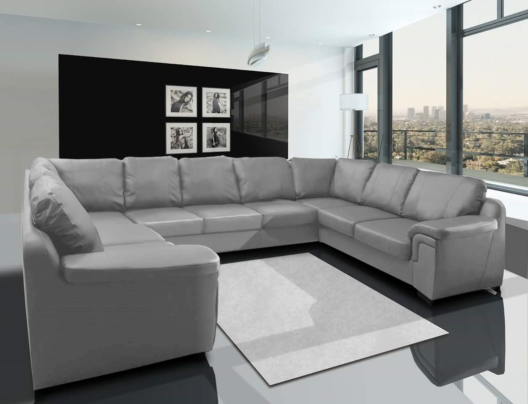 Sofa : Fabric Sectional Leather Sectional U Shaped Sectional With Within Most Popular Gray U Shaped Sectionals (View 11 of 20)