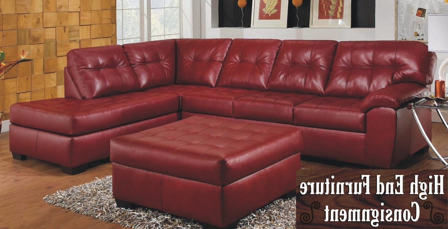 Sofa : Fabric Sectional Sofas Tan Reclining Sectional Red Fabric Intended For Most Up To Date Small Red Leather Sectional Sofas (View 11 of 20)