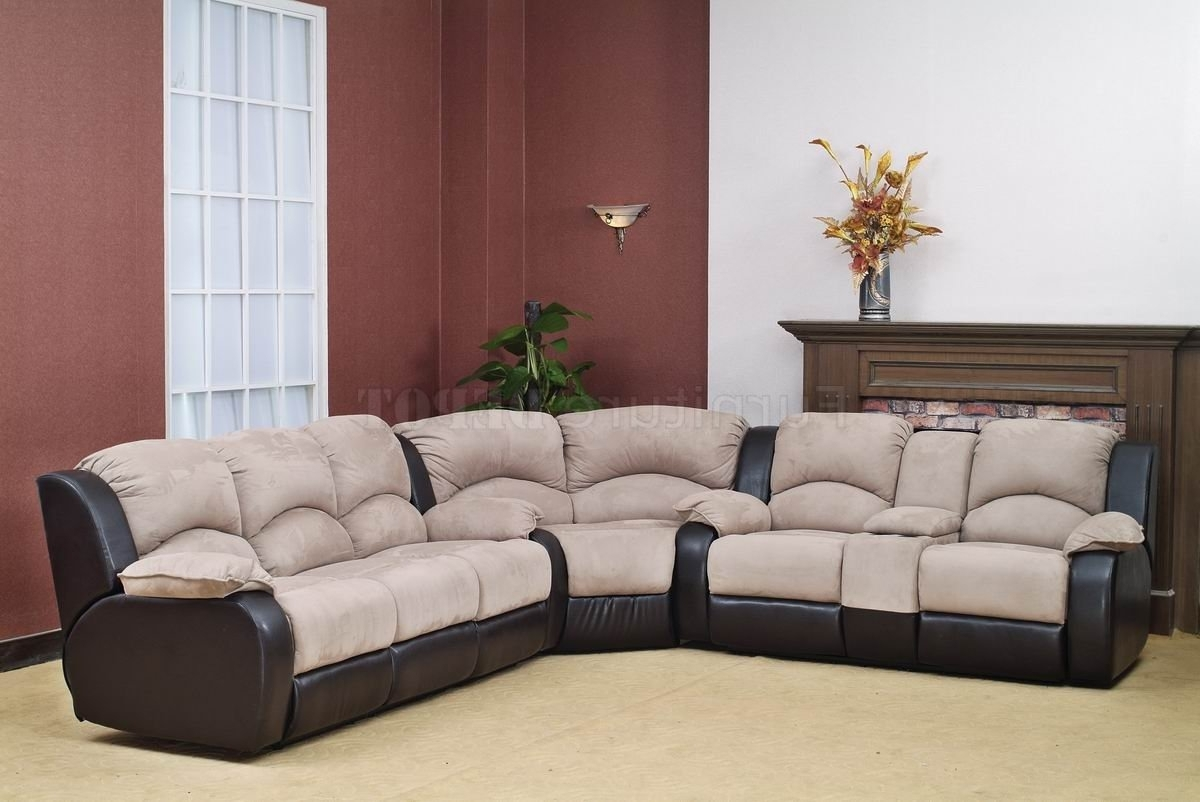 Sofa : Large Leather Reclining Sectional Sofa Couch With Drink In Most Recent Sectional Sofas With Cup Holders (View 3 of 20)