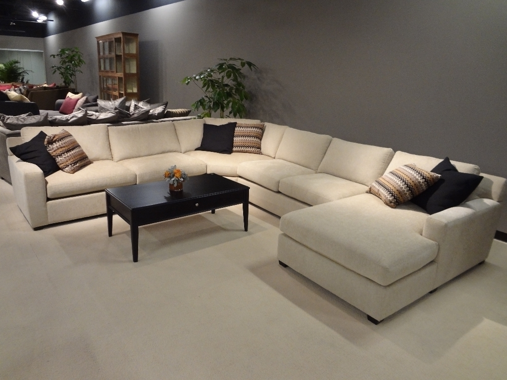 Sofa : Large Sectional Sofas U Shaped Leather Sofa Fabric Within Latest Leather L Shaped Sectional Sofas (View 7 of 20)
