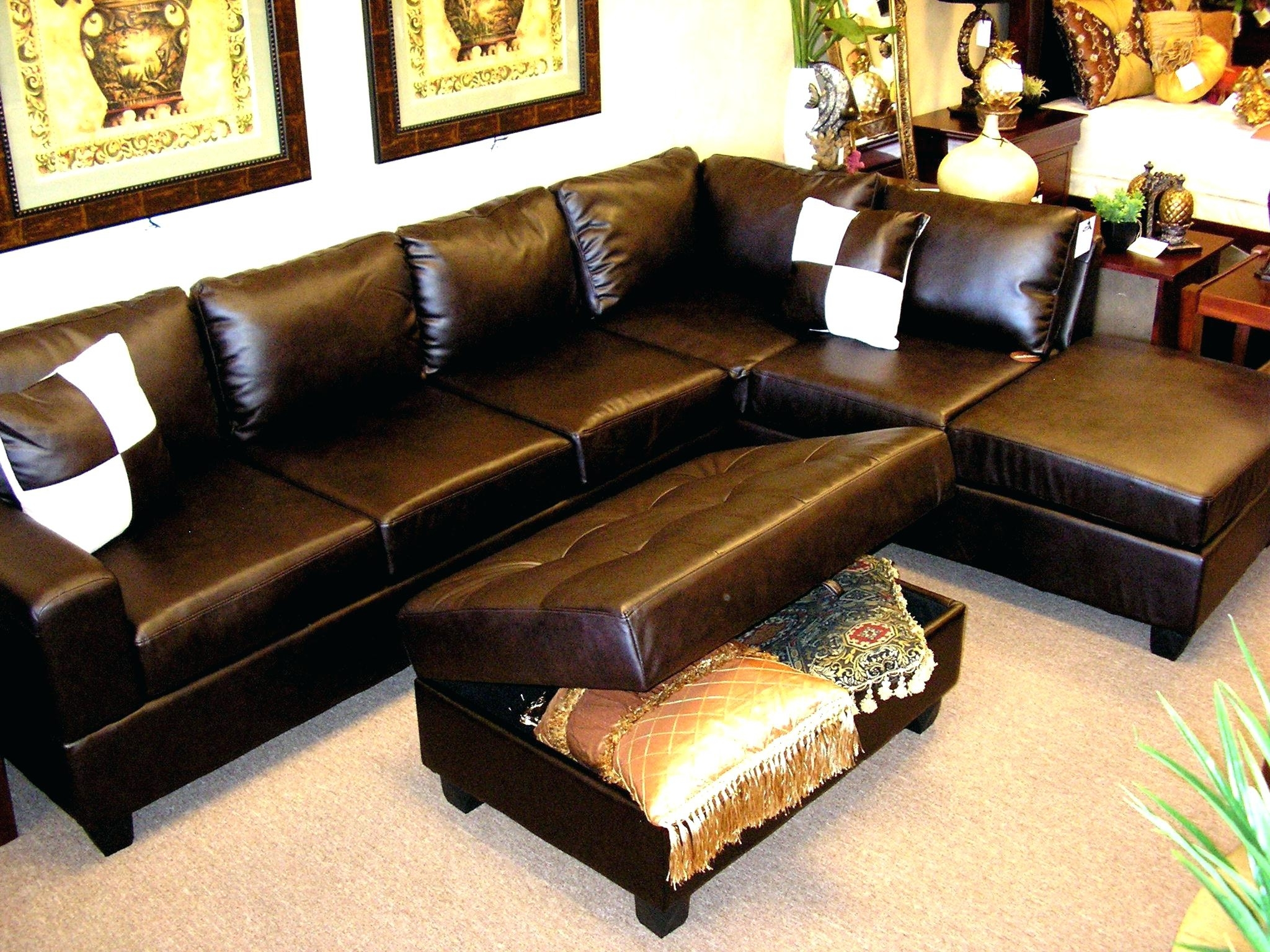 Sofa Leather Sectional Sofas Collection Of Brown Black Couch For Inside Favorite Memphis Sectional Sofas (View 20 of 20)
