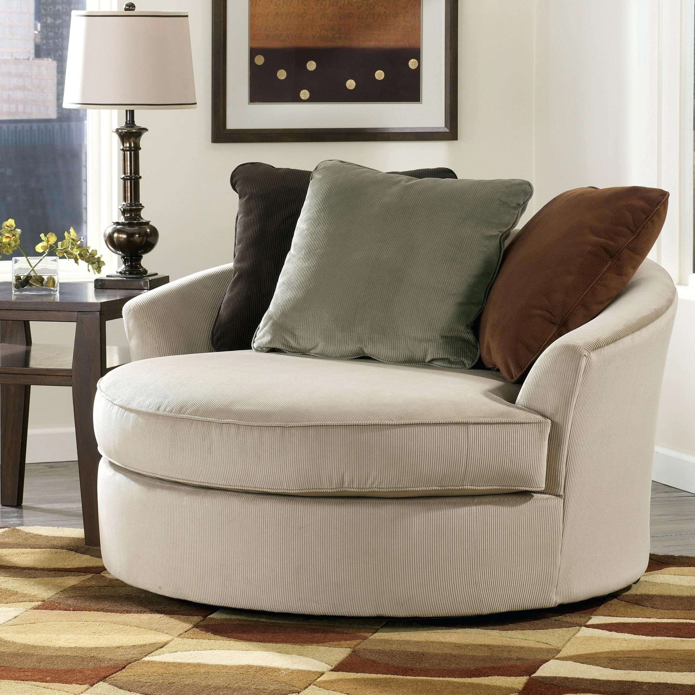 Sofa : Luxury Round Swivel Sofa Chair Latest Large With Crescent With Most  Current Swivel Sofa