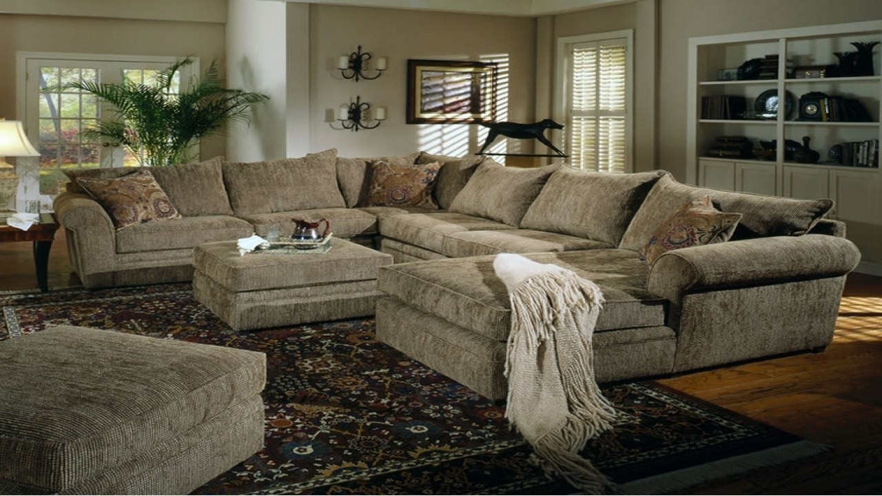 Sofa : Modern Oversized Sectional Sofa Oversized Sectional Sofas With Regard To Most Current Plush Sectional Sofas (View 16 of 20)
