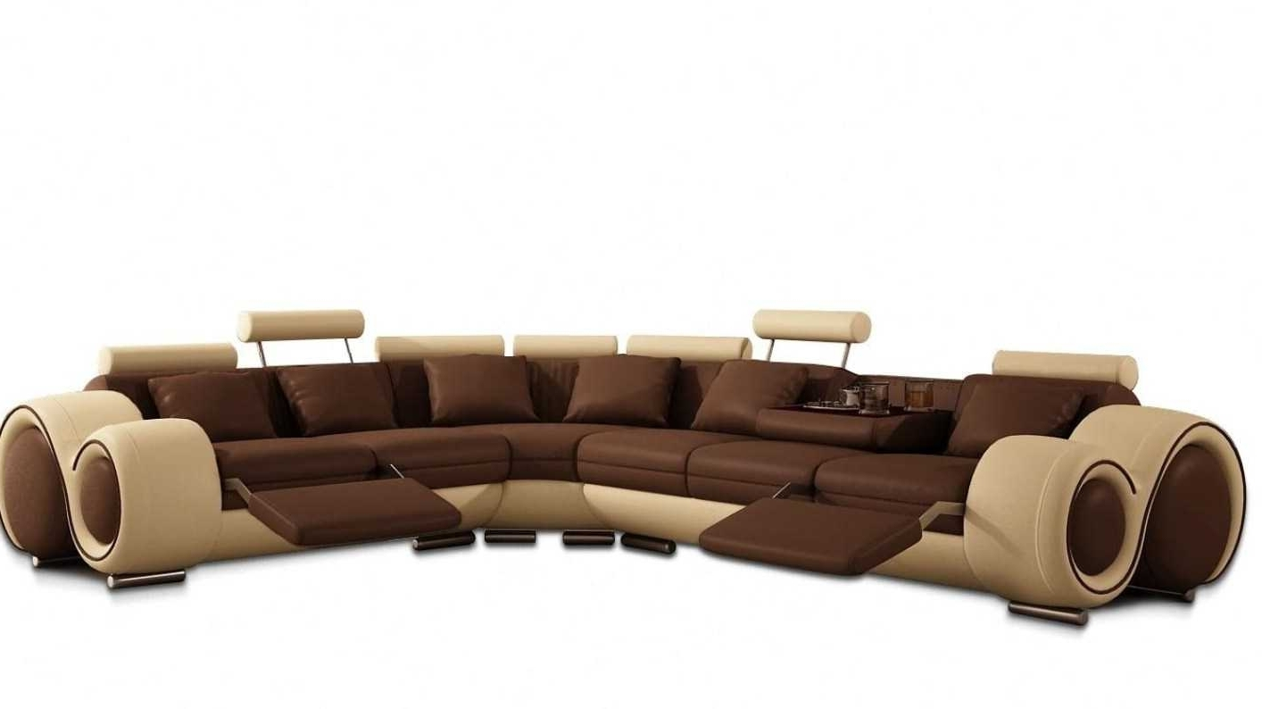 Sofa : Modern Reclining Sectional Large Sectional Sofas Reclining Within Most Recent Leather Recliner Sectional Sofas (Gallery 17 of 20)