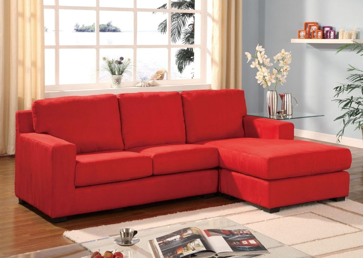Sofa : Red Microfiber Sectional Inspirational Black And Red Regarding Most Recently Released Red Sleeper Sofas (View 16 of 20)
