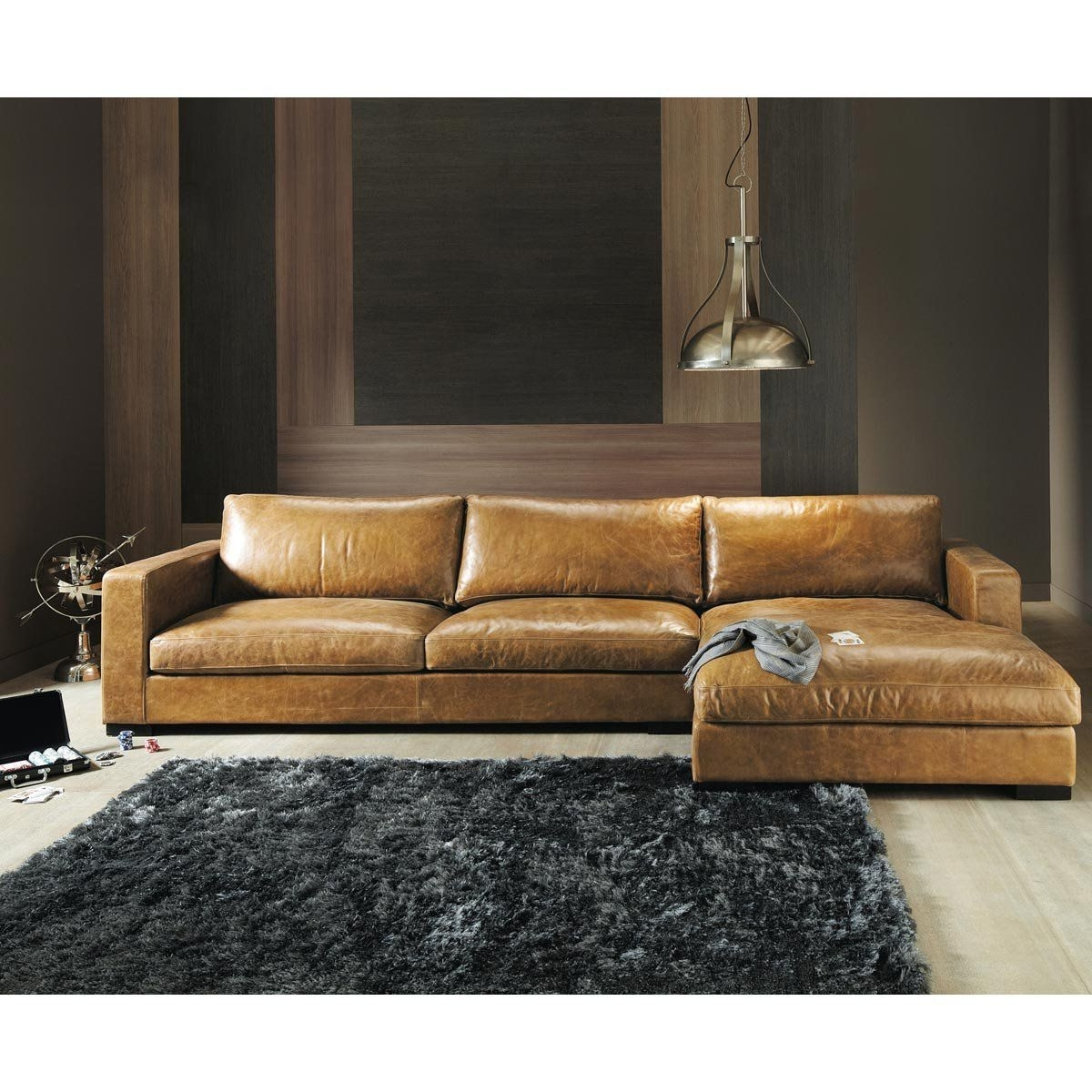Sofa Seats, Leather Pertaining To Trendy Camel Sectional Sofas (View 11 of 20)