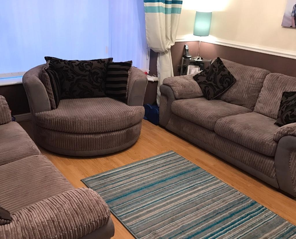 Sofa Set 3 + 2 + Swivel Chair And Puffy / Foot Stool (View 17 of 20)