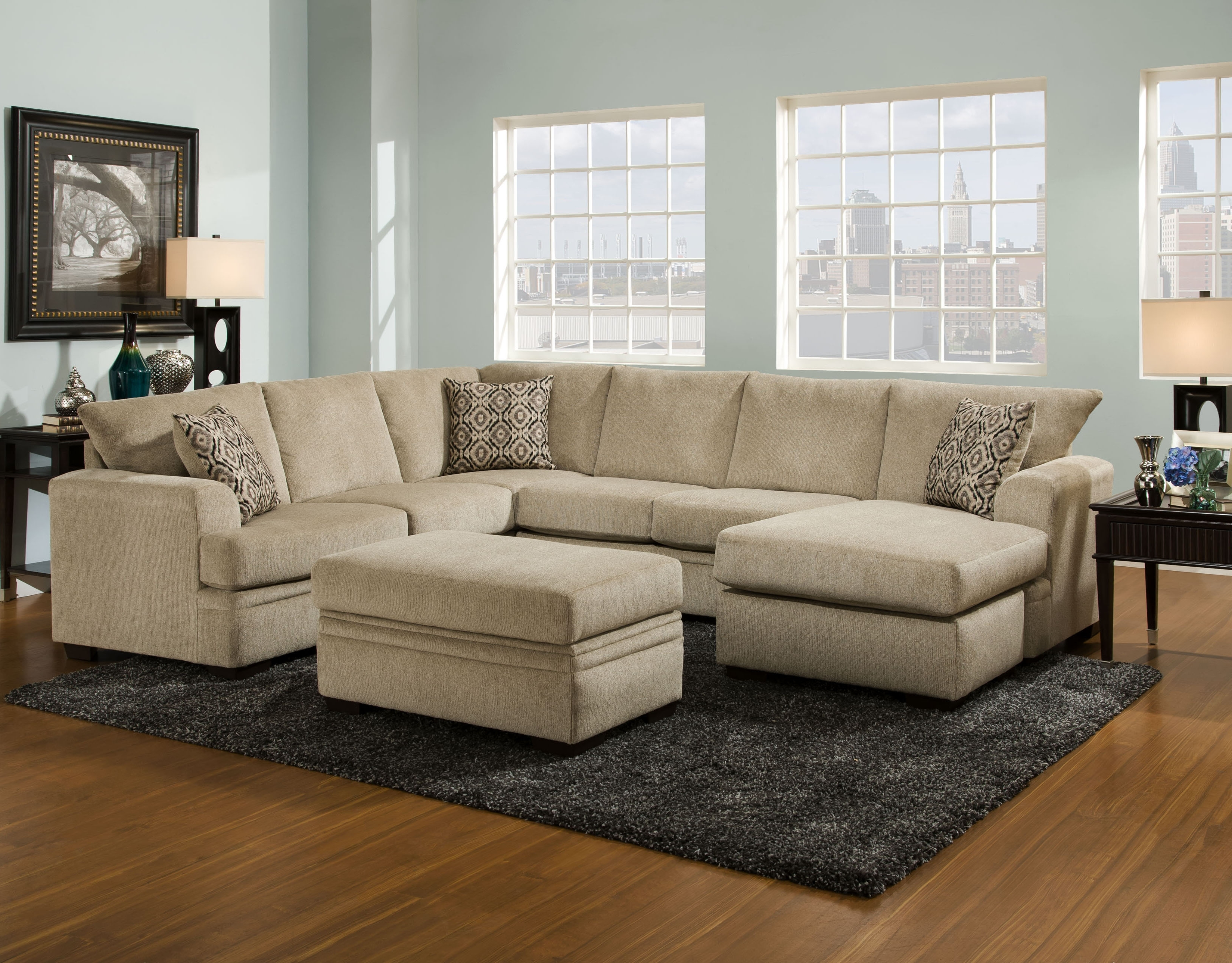 Sofa : Sofas For Small Spaces Fabric Sectionals With Recliners Inside Trendy Home Zone Sectional Sofas (View 18 of 20)