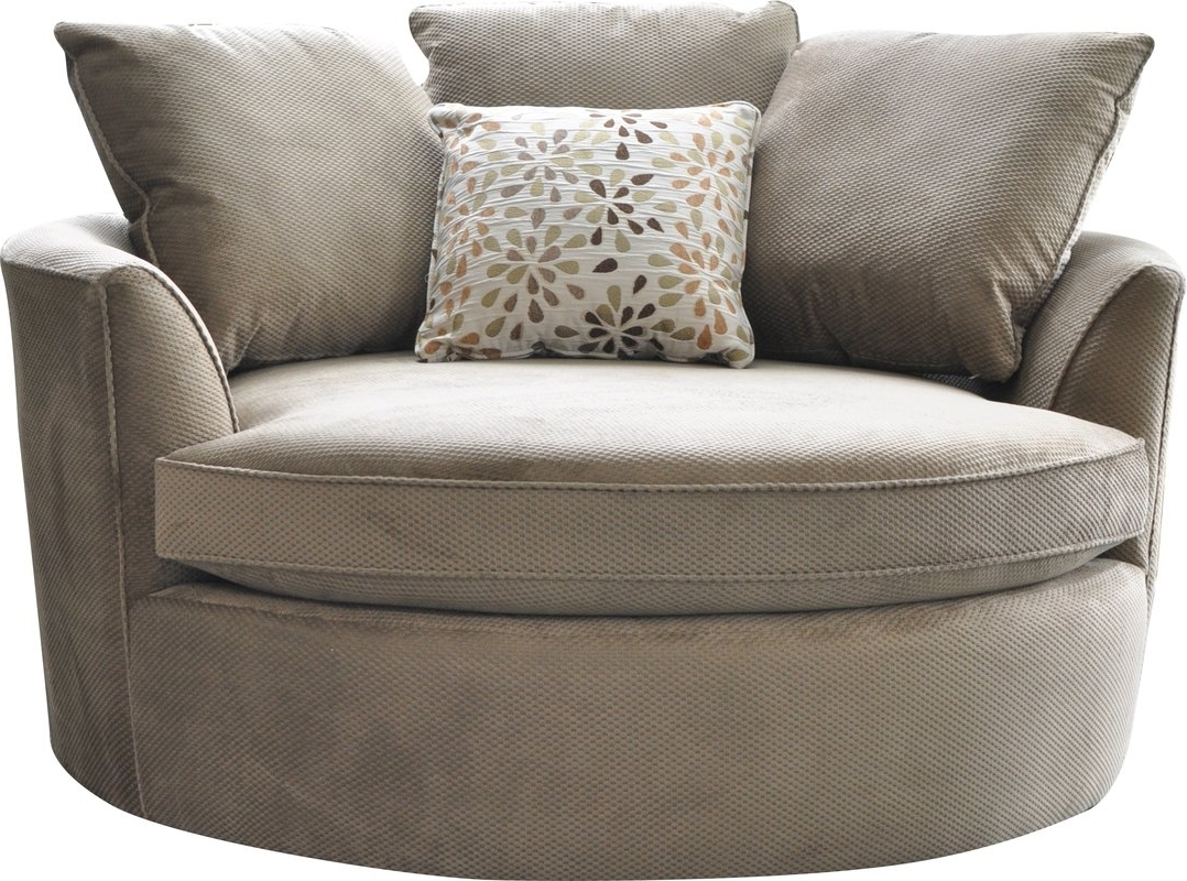 Sofa : Swivel Chairs For Living Room Elegant Round Sofa Chair With Regard To Trendy Big Round Sofa Chairs (View 17 of 20)