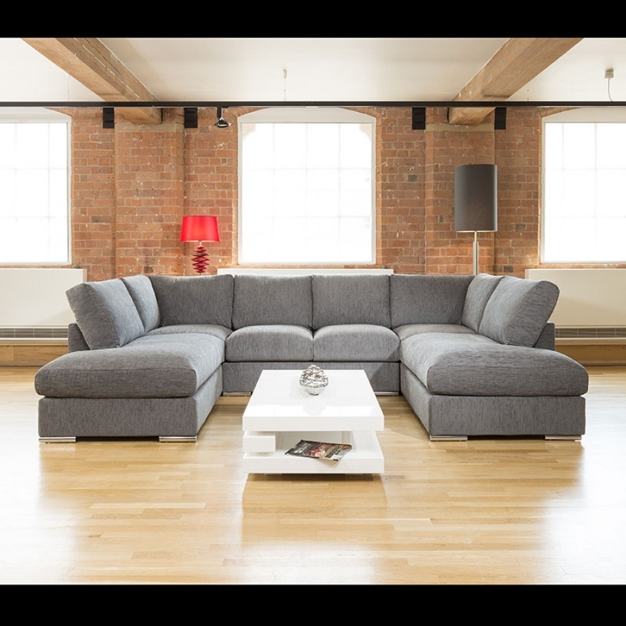 Sofa : U Shaped Leather Sofa Small Sectional Sofa With Recliner U Within Well Known U Shaped Sectionals (View 12 of 20)