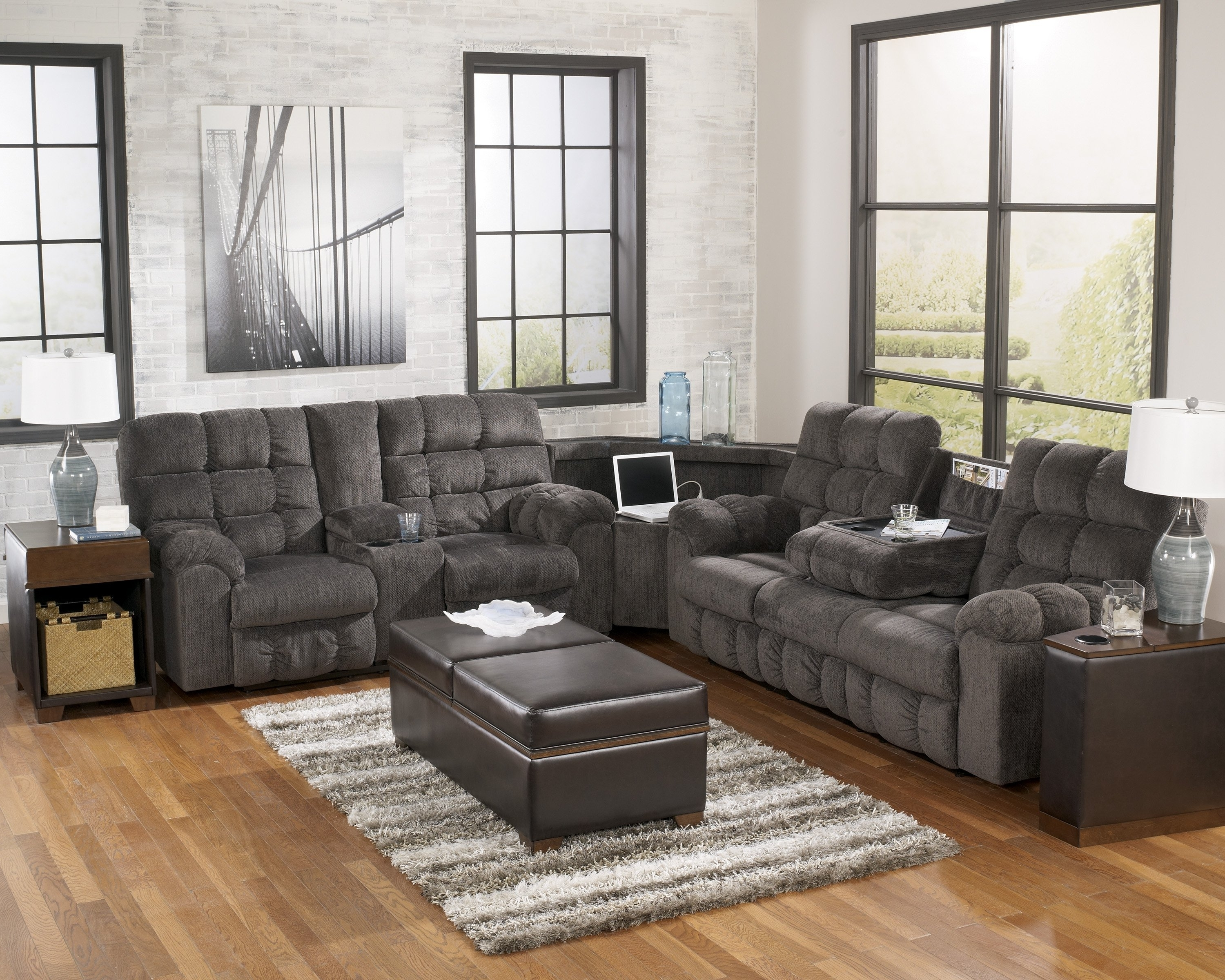 Sofas Center Sectional Sofas Ashley Furniture Excellent Faux For Inside Recent Sectional Sofas At Ashley (View 5 of 20)