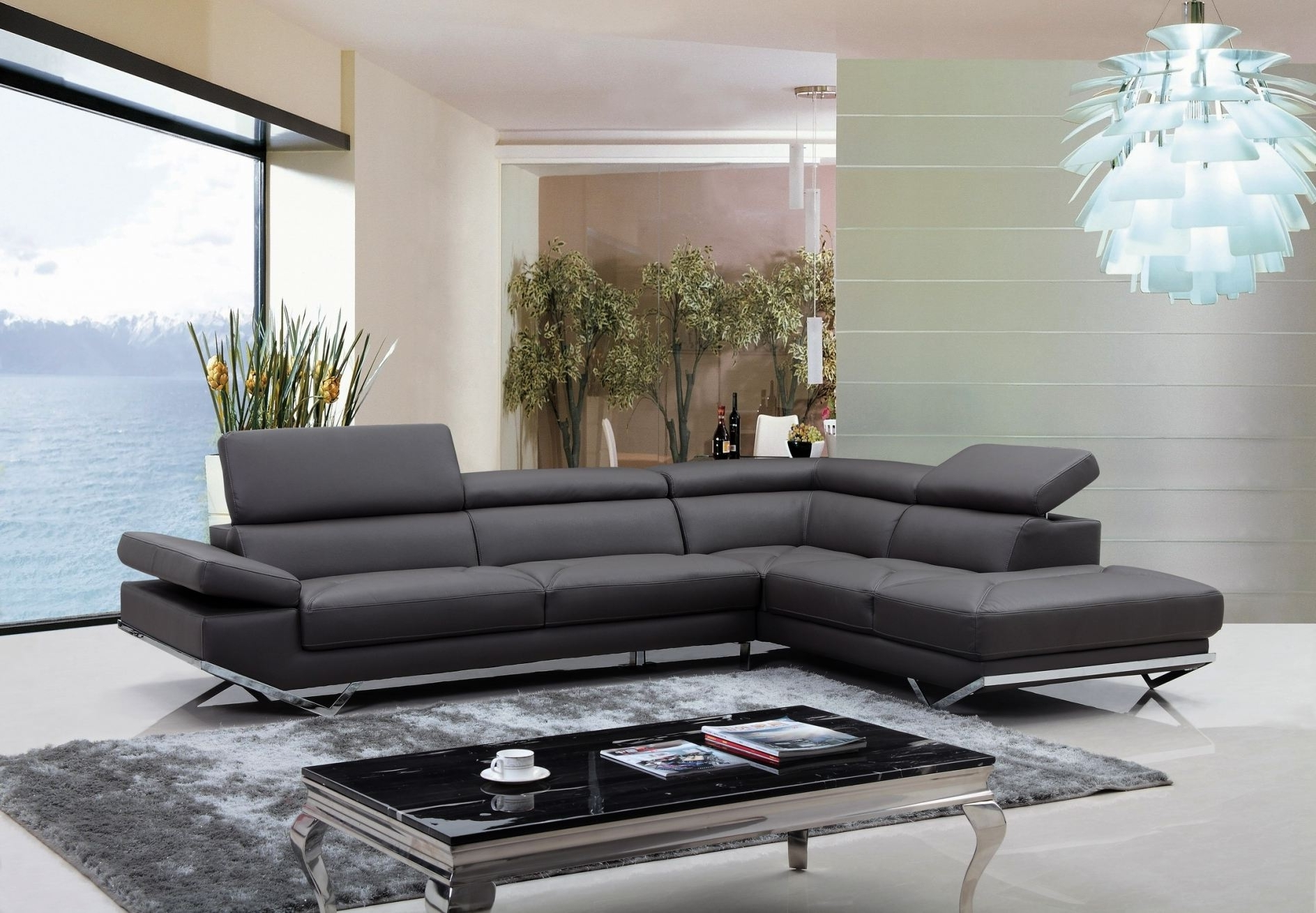 Sofas Magnificent Brown Leather Sectional Contemporary Furniture Within 2018 High Point Nc Sectional Sofas (View 4 of 20)