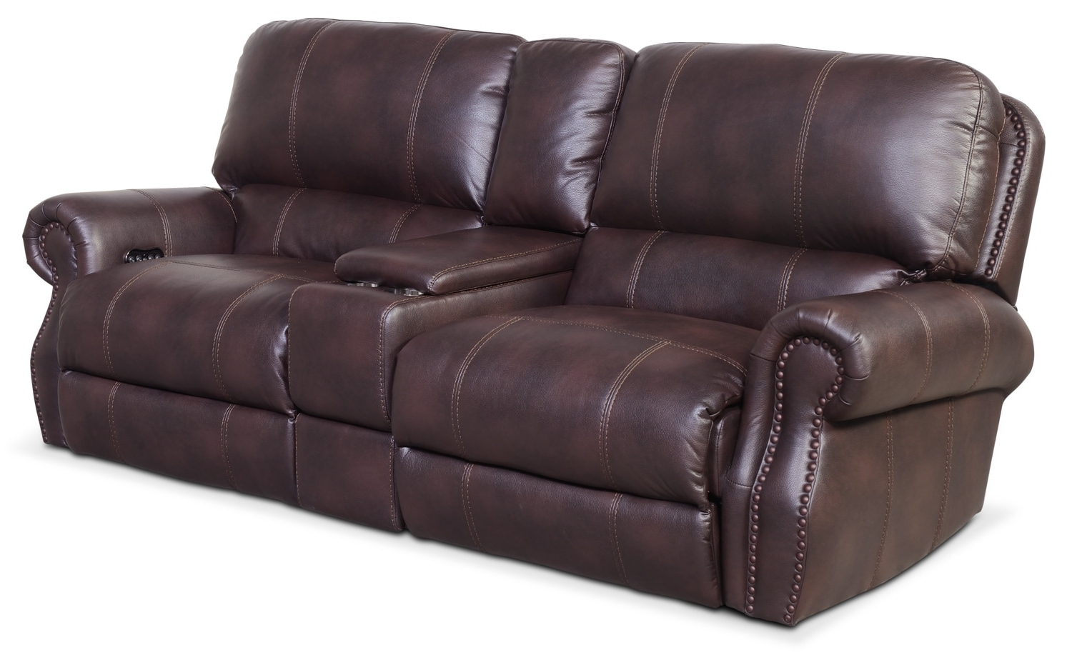 Sofas With Consoles With Regard To 2019 Dartmouth 3 Piece Power Reclining Sofa With Console – Burgundy (View 16 of 20)
