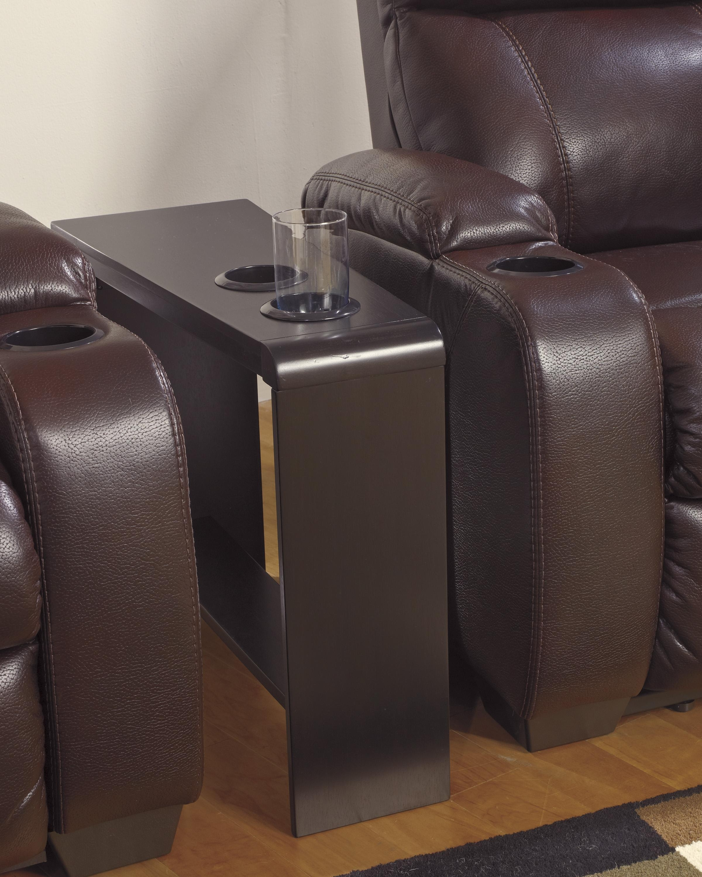 Sofas With Drink Tables Throughout Trendy Chair Side End Table With 2 Cup Holders, Powerstrip, & Usb (View 12 of 20)