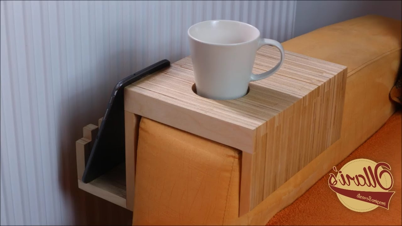 Sofas With Drink Tables Throughout Well Known Making A Plywood Sofa Tray / Drink Holder – Youtube (View 14 of 20)