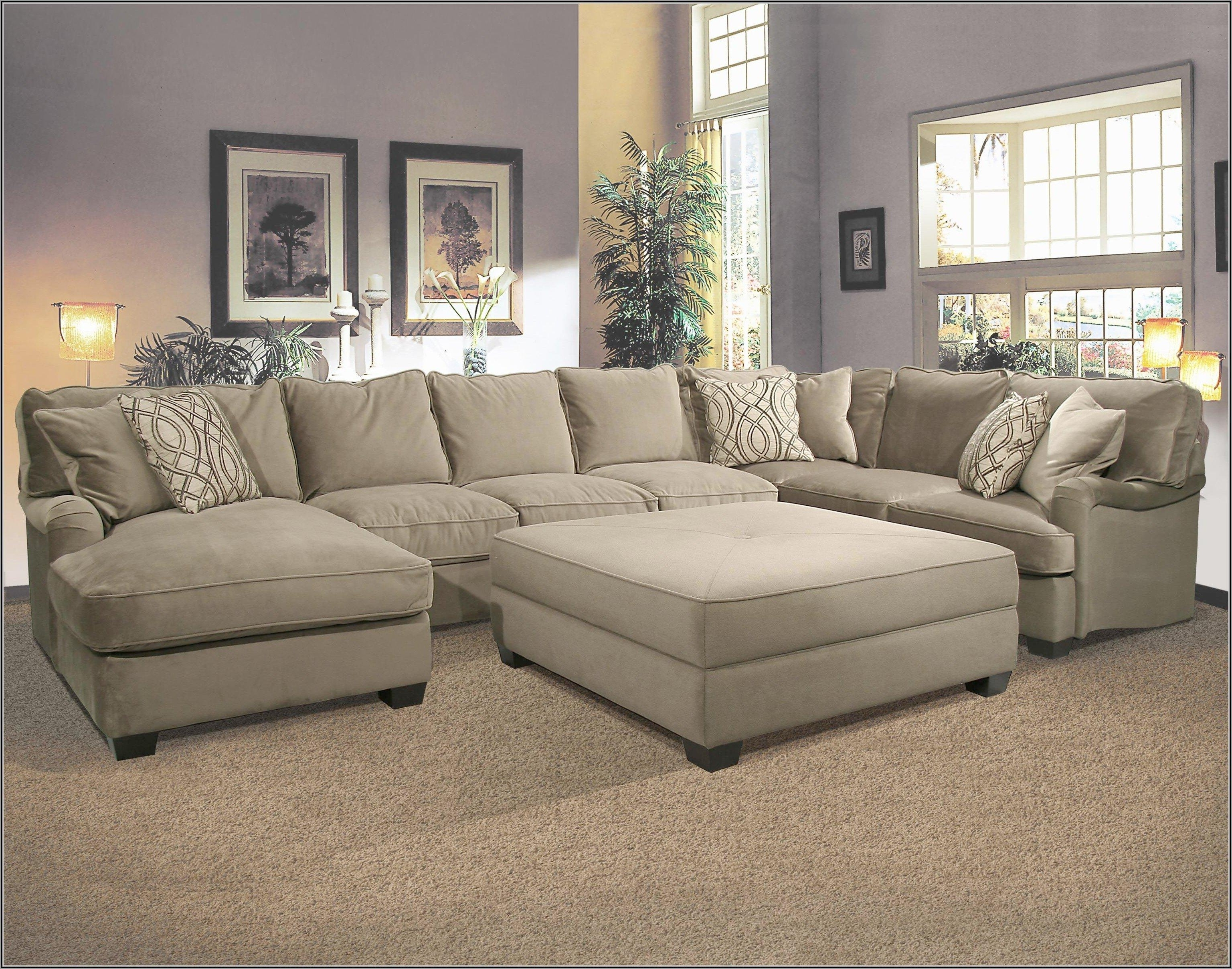 Sofas With Ottoman Pertaining To Well Known Sofa : Deep Seated Sectional New Sectional Sofa With Ottoman Deep (View 7 of 20)