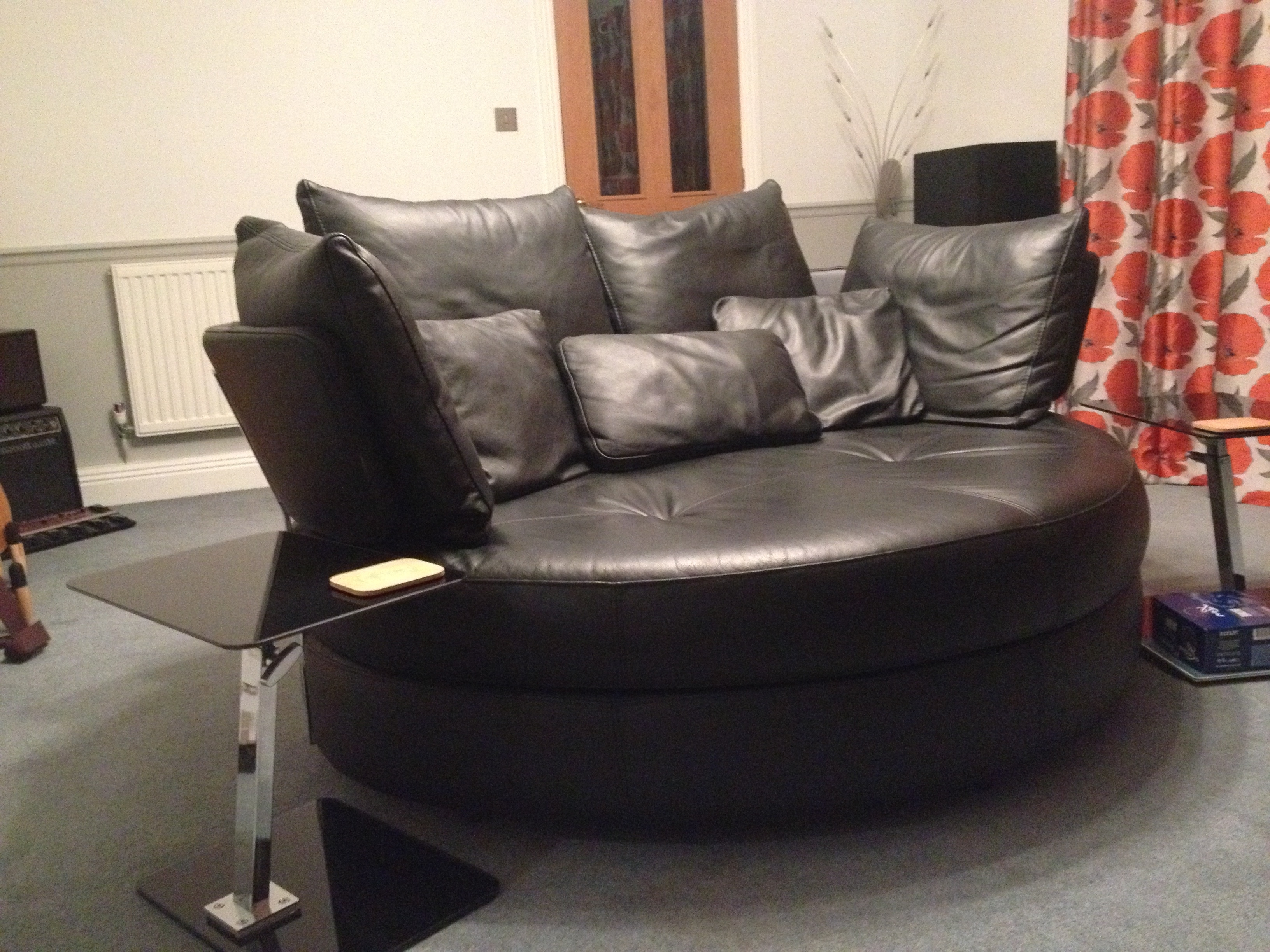 Sofas With Swivel Chair In Preferred Fabulous Leather 2 Person Large Swivel Snuggler Chair/sofa (View 12 of 20)