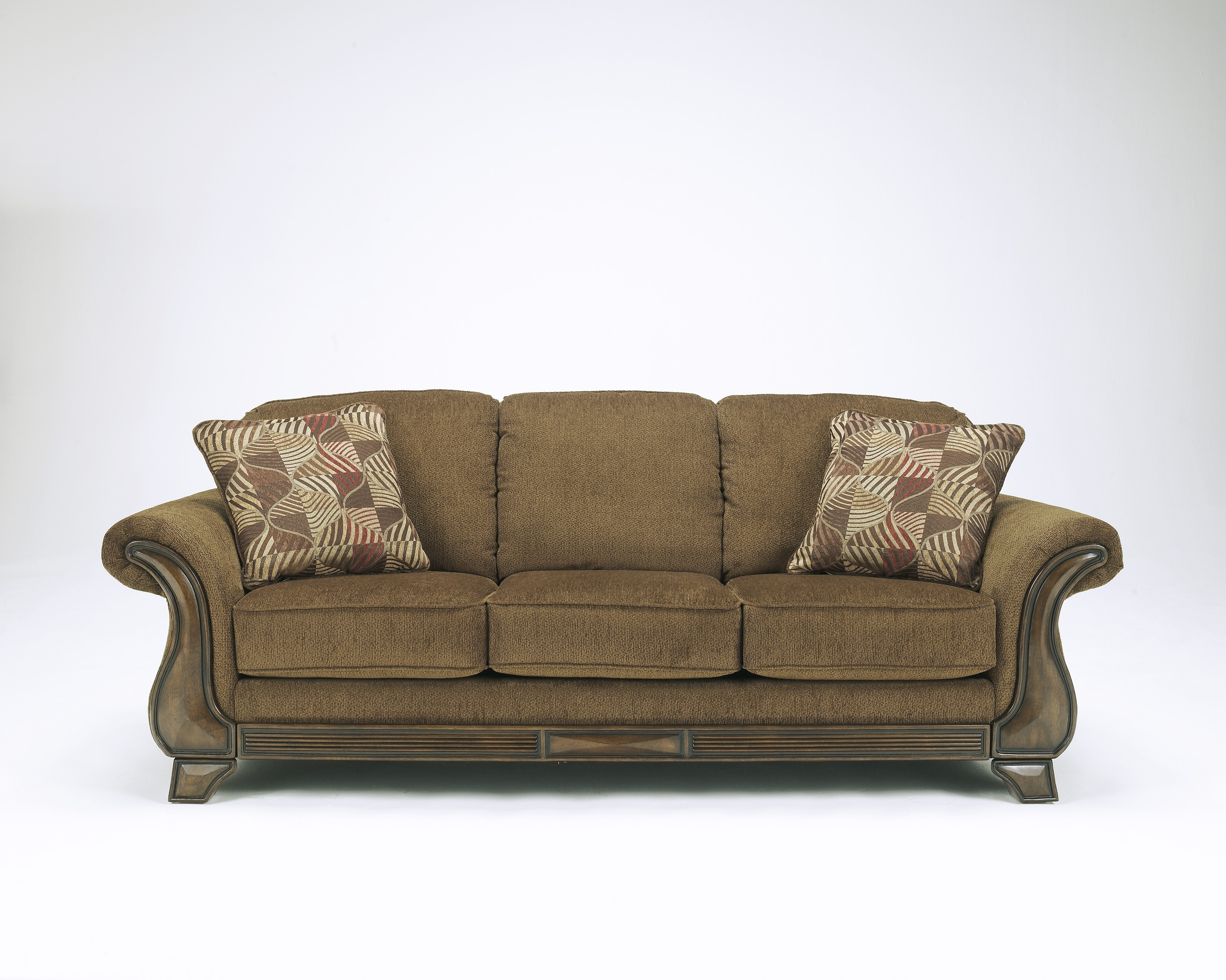 Sofas With Wood Accents In Well Liked Loveseats With Ottoman (View 15 of 20)
