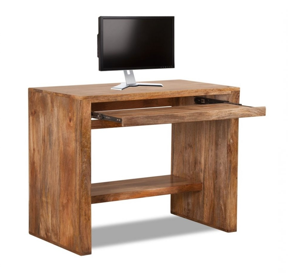 Solid Wood Computer Desks Intended For Recent Furniture : Magnificent Small Wood Computer Desk 5 Small Wood (View 12 of 20)
