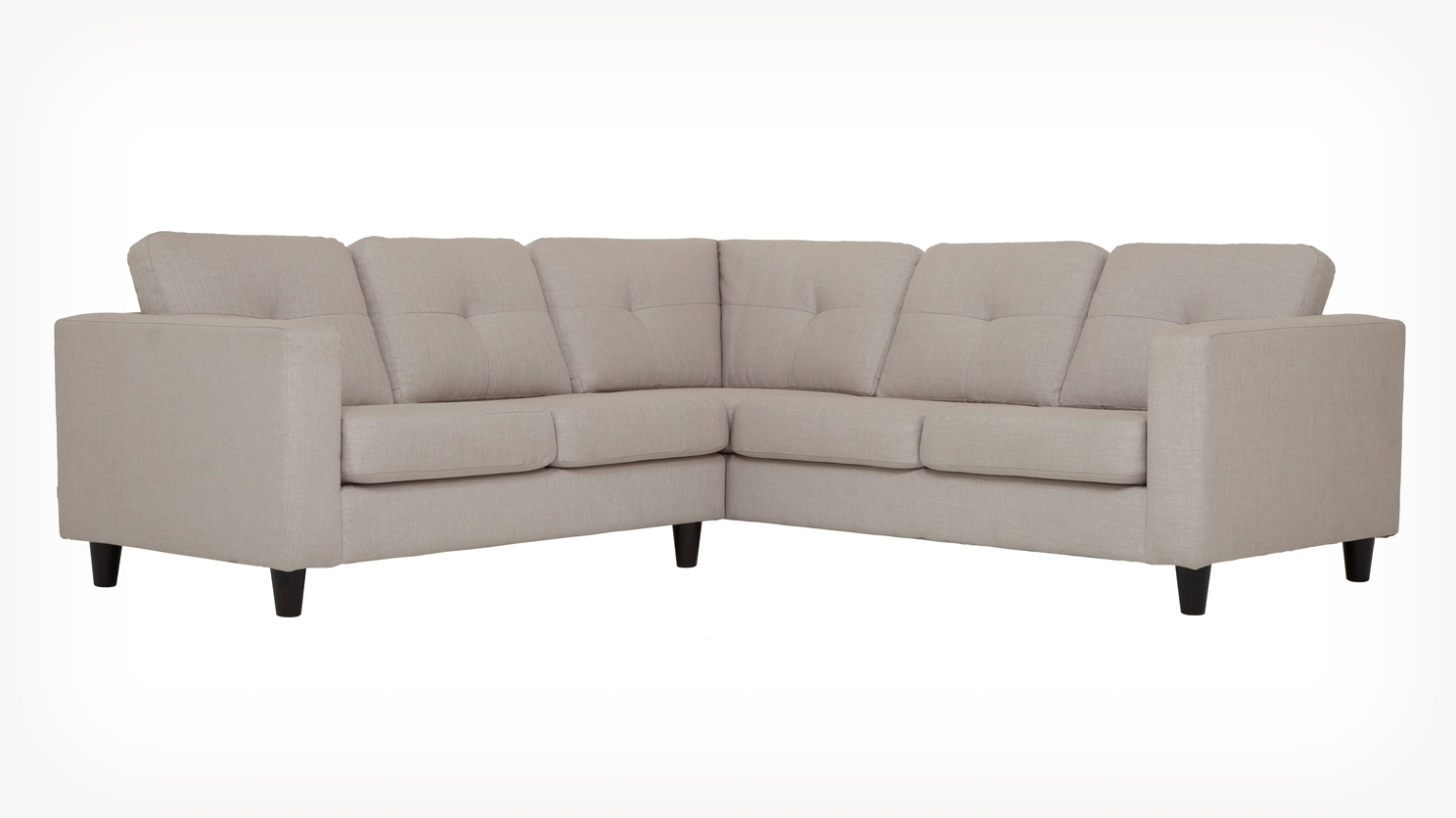 Solo 2 Piece Sectional Sofa – Fabric Inside Favorite Eq3 Sectional Sofas (View 3 of 20)