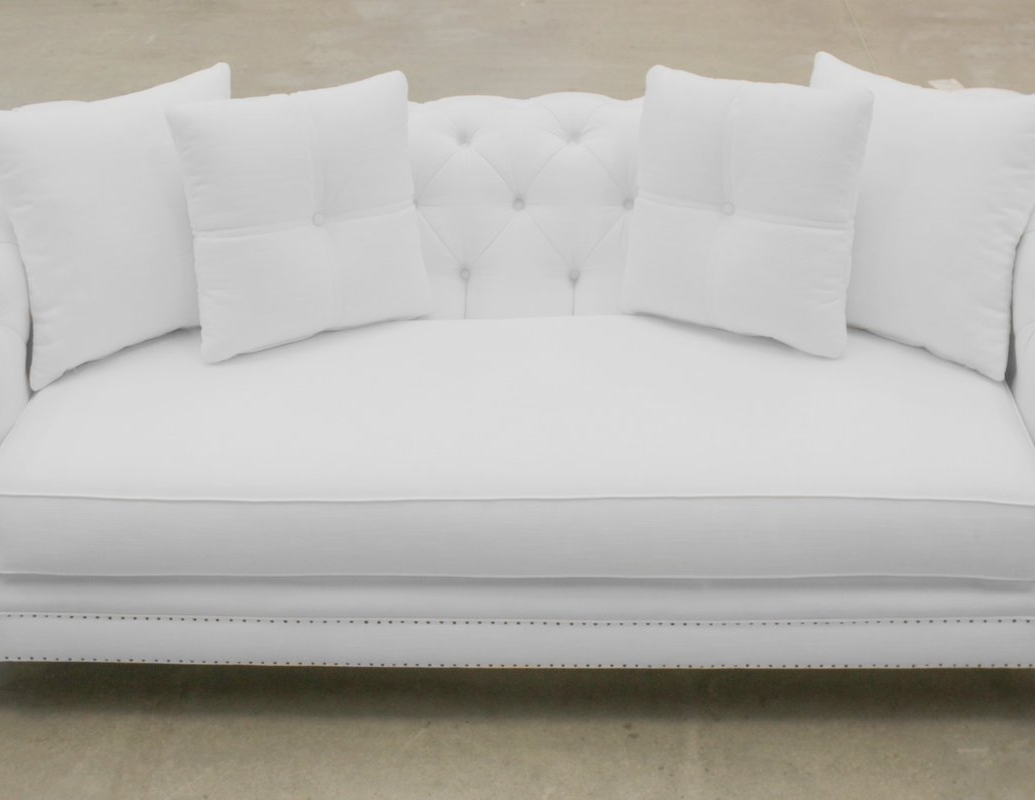 South Cone Home Hanover Tufted Linen Chesterfield Sofa & Reviews Inside Fashionable Tufted Linen Sofas (Gallery 18 of 20)