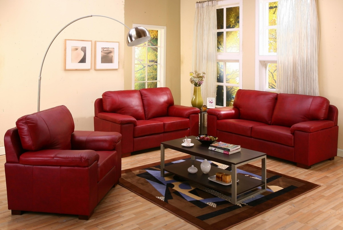 Spectacular Red Leather Couch Living Room Ideas 11 In With Red For Current Red Leather Couches For Living Room (View 8 of 20)