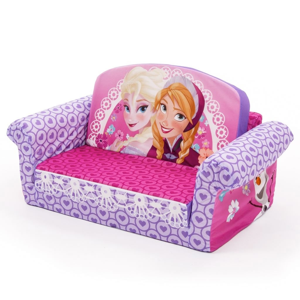 Spin Master – Marshmallow Furniture Flip Open Sofa Disney Frozen Pertaining To Current Flip Out Sofas (View 18 of 20)