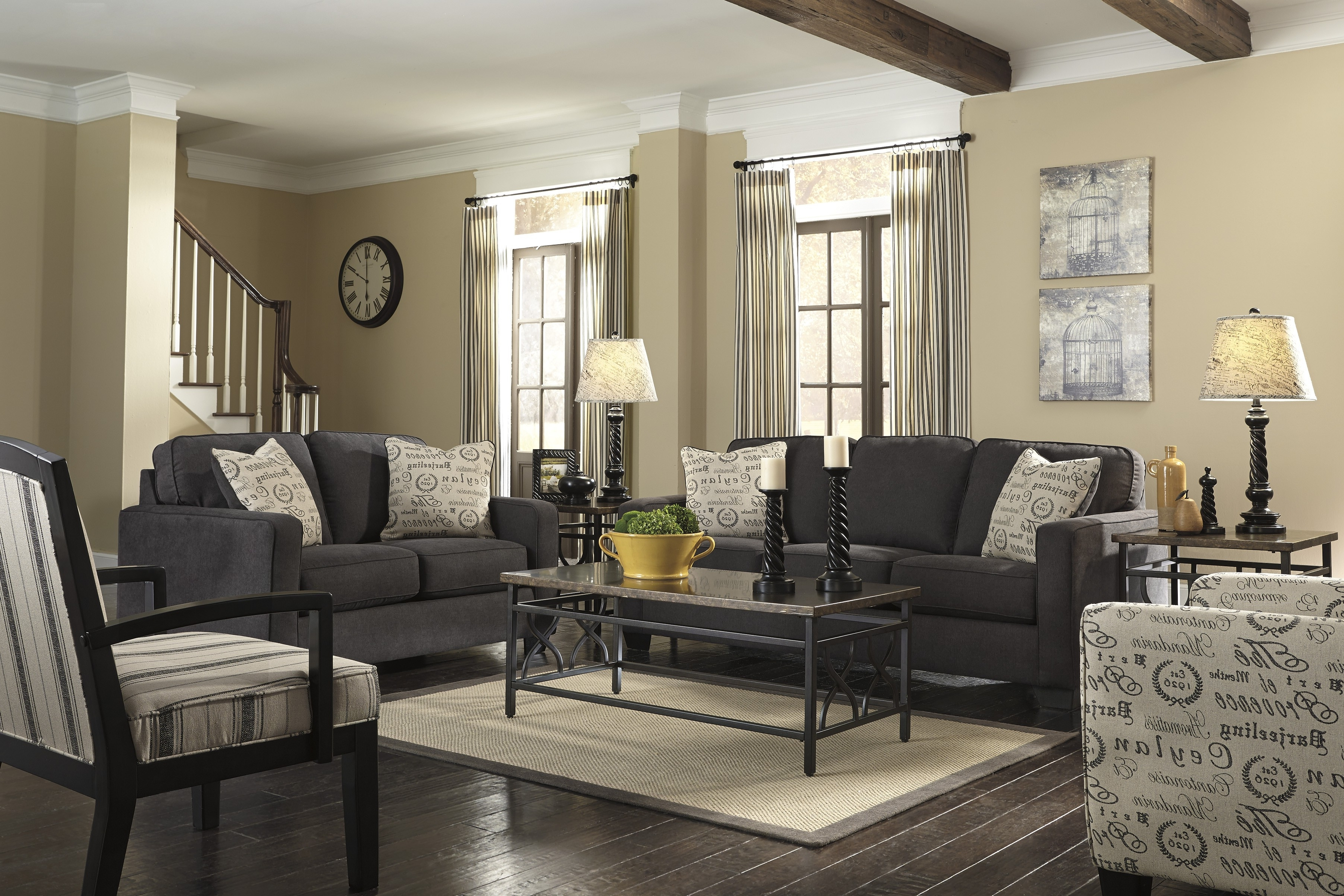 Splendid Midcentury Interior Design With Cool Modern Charcoal Grey With Trendy Charcoal Grey Sofas (View 8 of 20)