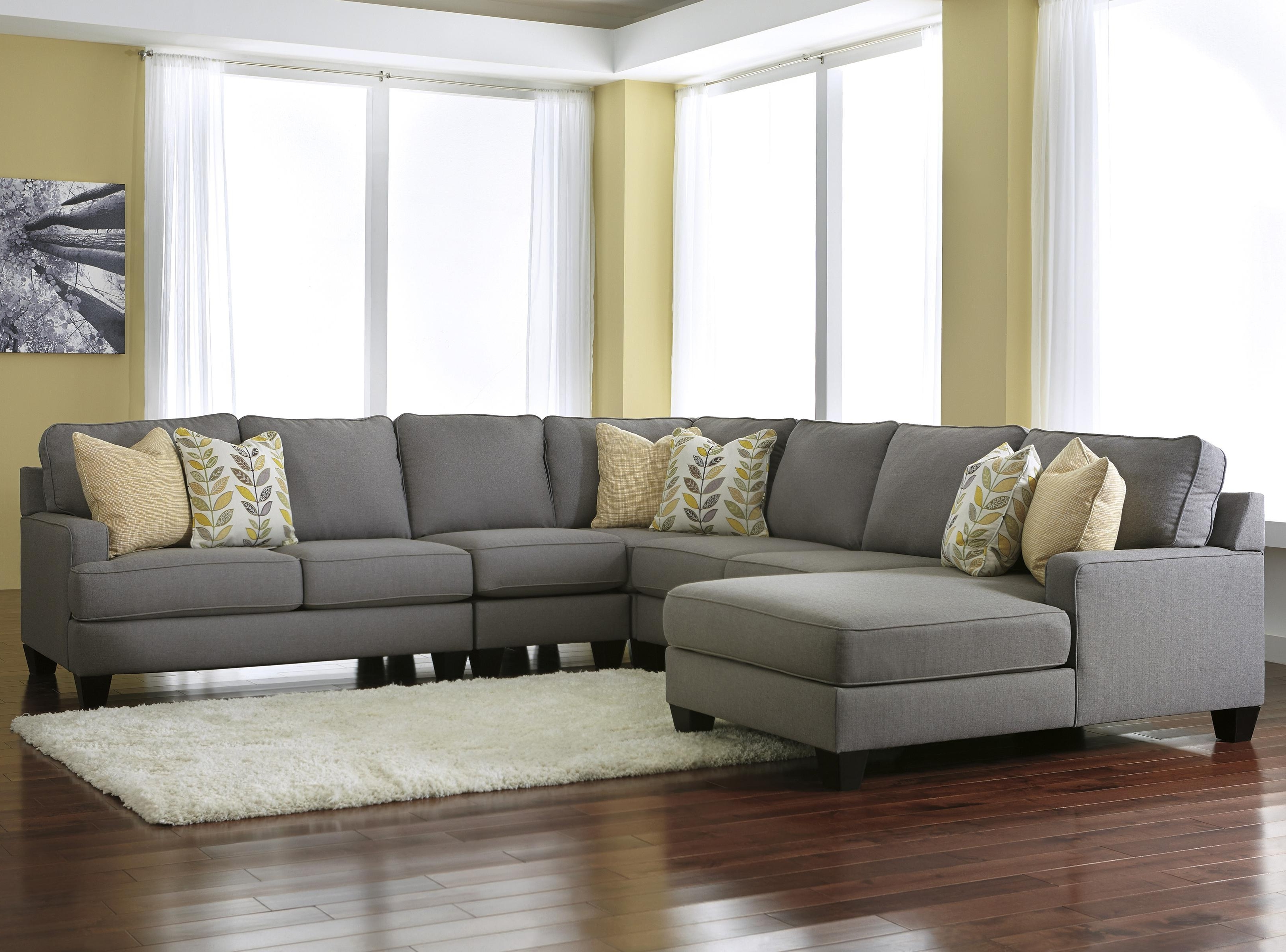 St Cloud Mn Sectional Sofas Intended For 2019 Signature Designashley Chamberly – Alloy Modern 5 Piece (View 15 of 20)