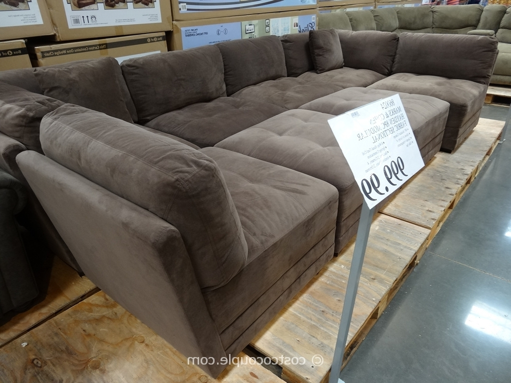 Stacey Leather Sectional Sofa 5 Piece Modular Pit • Leather Sofa Pertaining To Preferred Sectional Sofas That Come In Pieces (View 13 of 20)