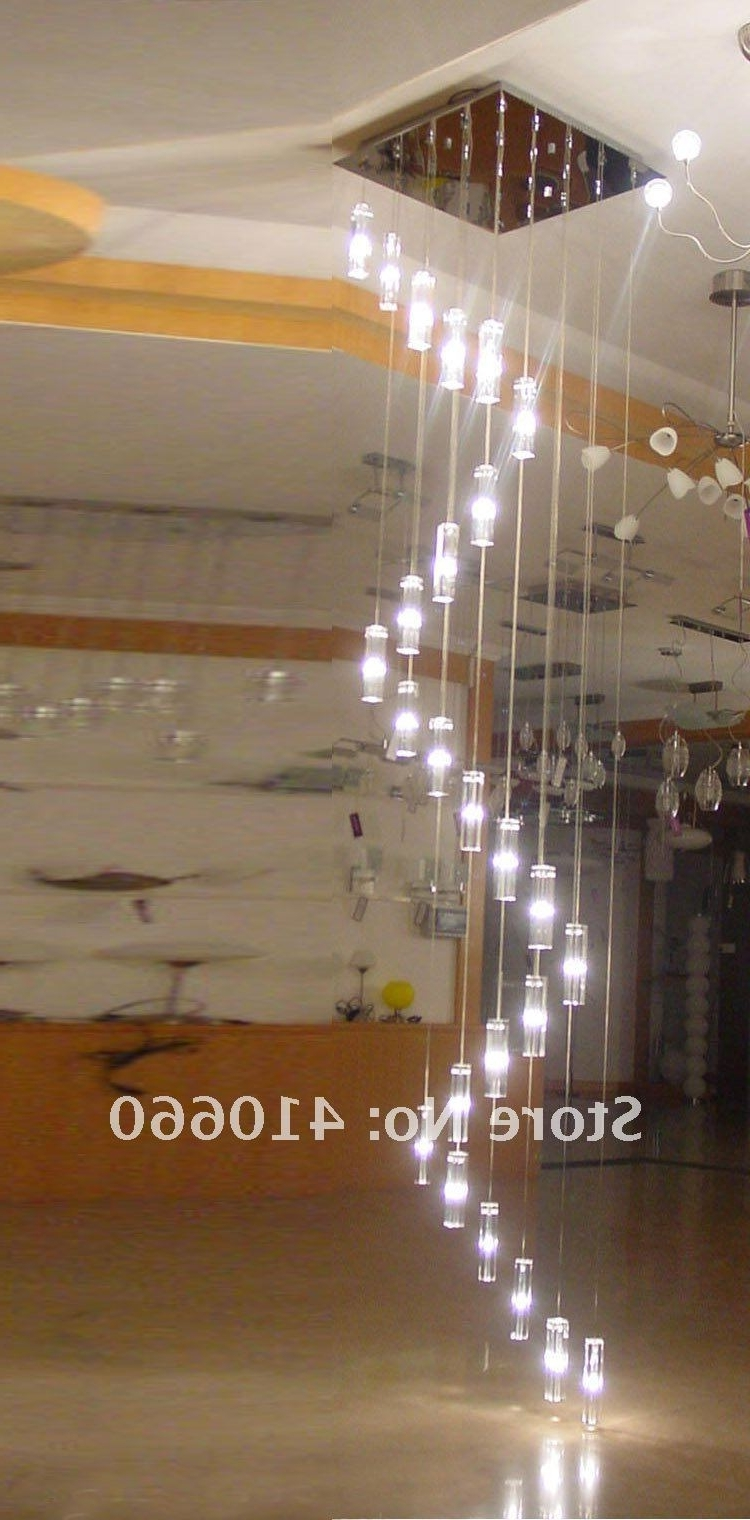 Staircase Chandeliers Pertaining To 2018 Modern Hanging Chandelier Staircase Crystal Spiral Chandelier (View 15 of 20)