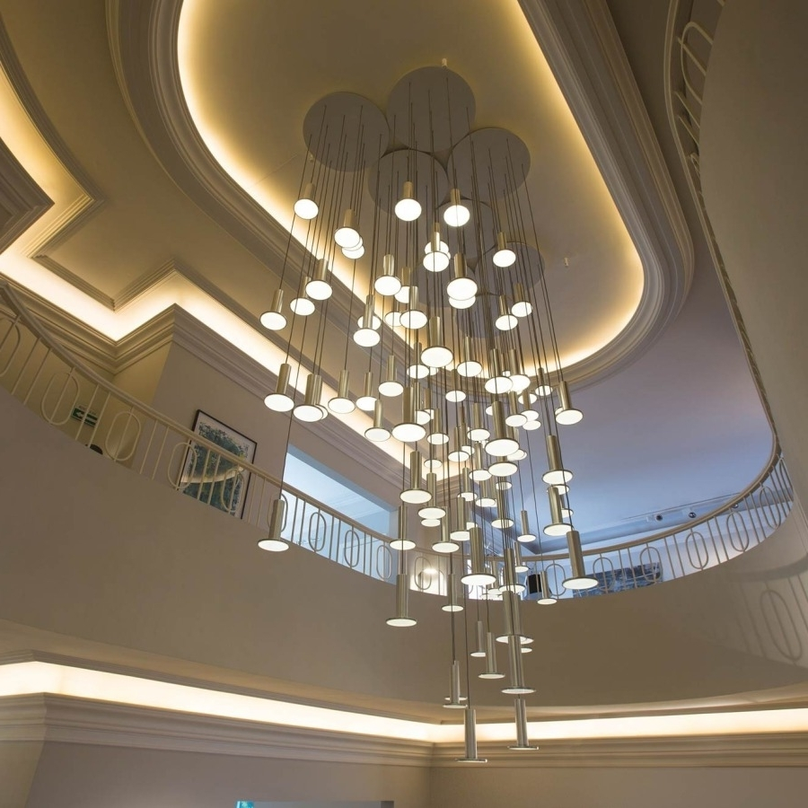 Stairway Chandelier For 2019 Stairway Chandelier Height — John Robinson Decor : The Right Way To (View 11 of 20)