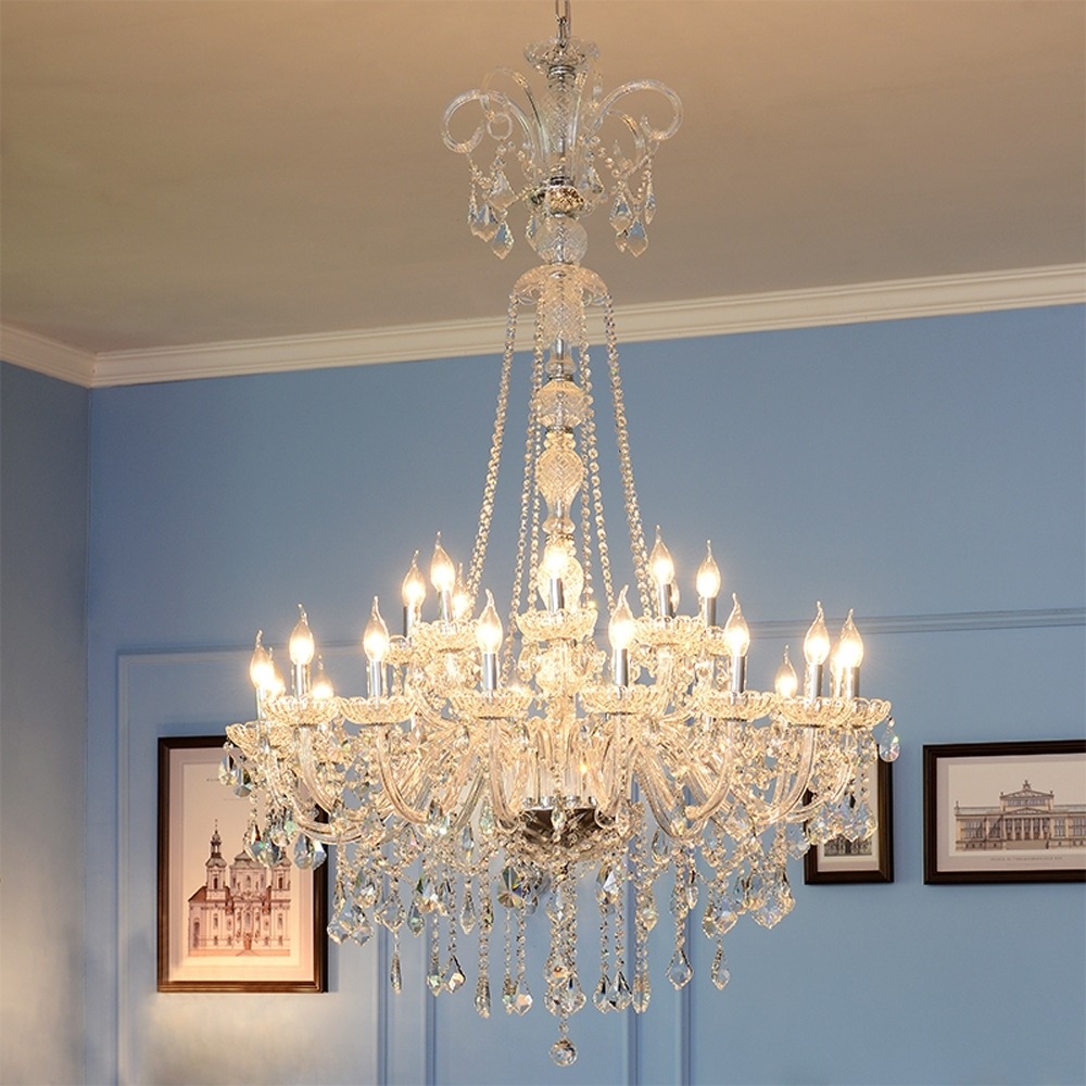 Stairwell Chandelier Pertaining To Well Known High Ceiling Chandeliers Crystal Ball Chandelier Modern Staircase (View 11 of 20)