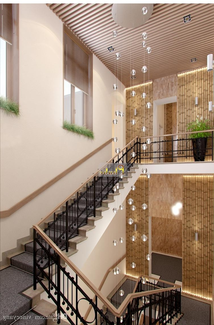 Stairwell Chandelier Regarding Widely Used Phube Lighing Led Meteor Shower Crystal Chandelier Light Fixtures (View 13 of 20)