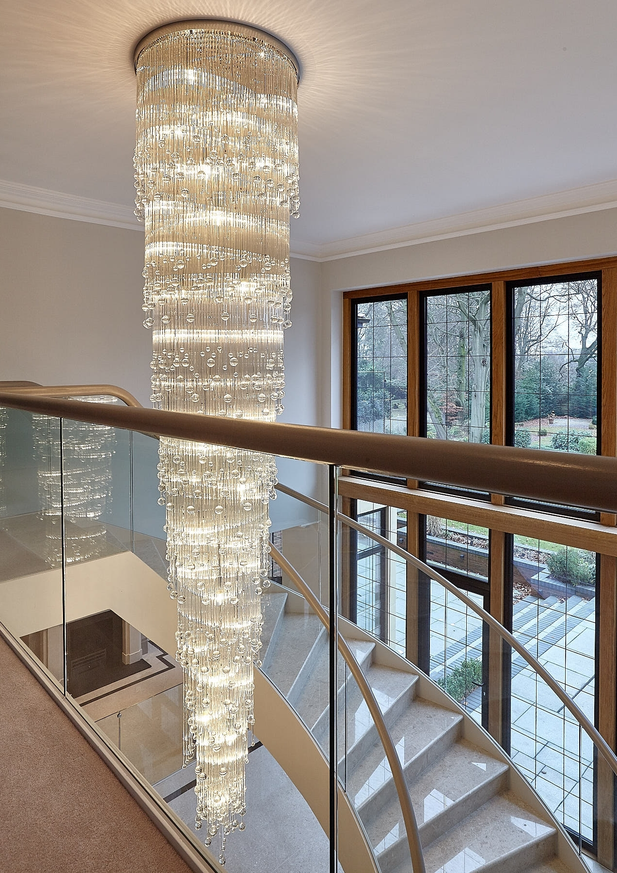 Stairwell Chandelier Throughout Best And Newest Rocco Borghese (View 14 of 20)