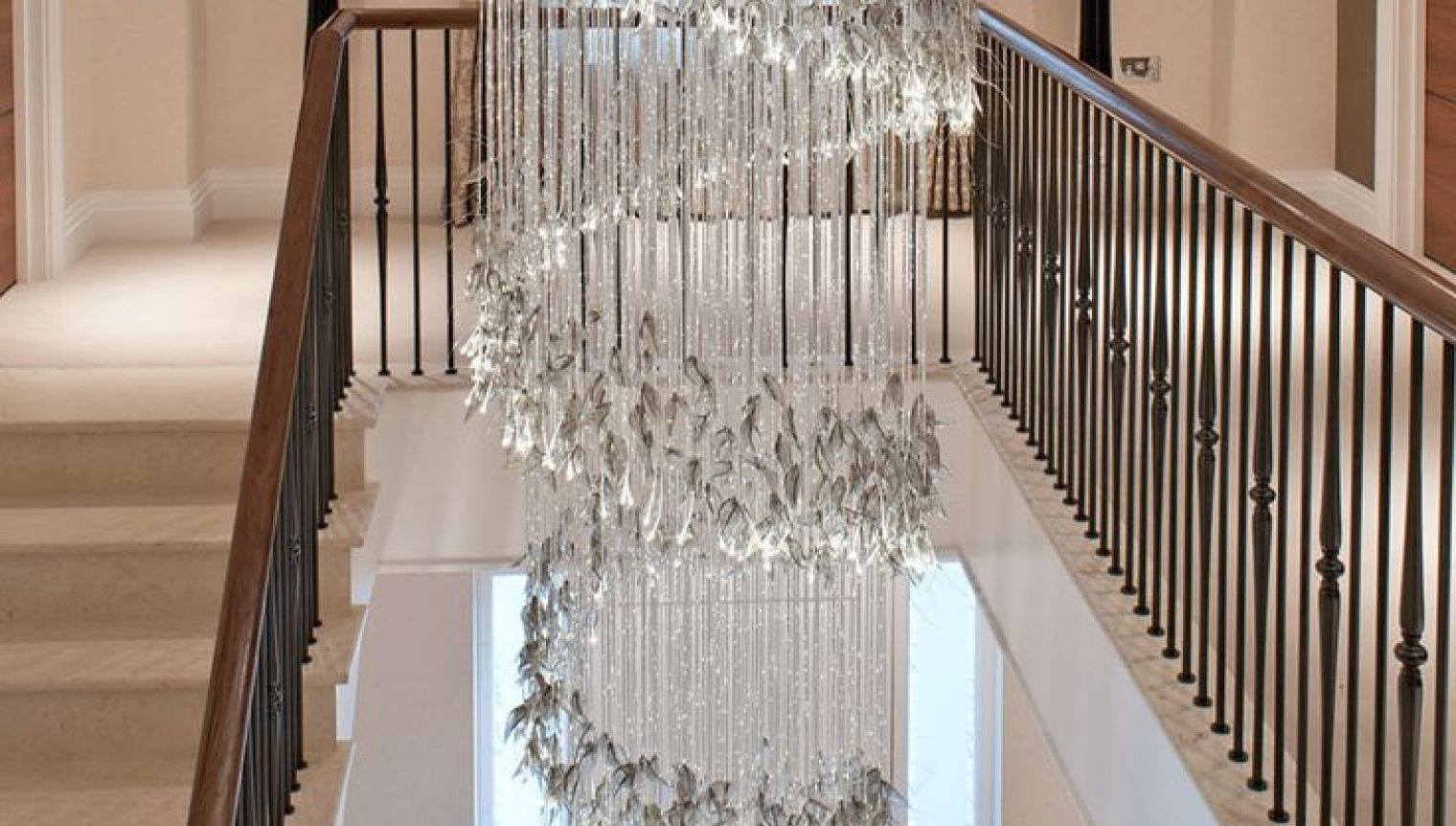 Stairwell Chandeliers Throughout Preferred Chandelier : Stairway Lighting Wonderful Stairwell Chandeliers  (View 16 of 20)